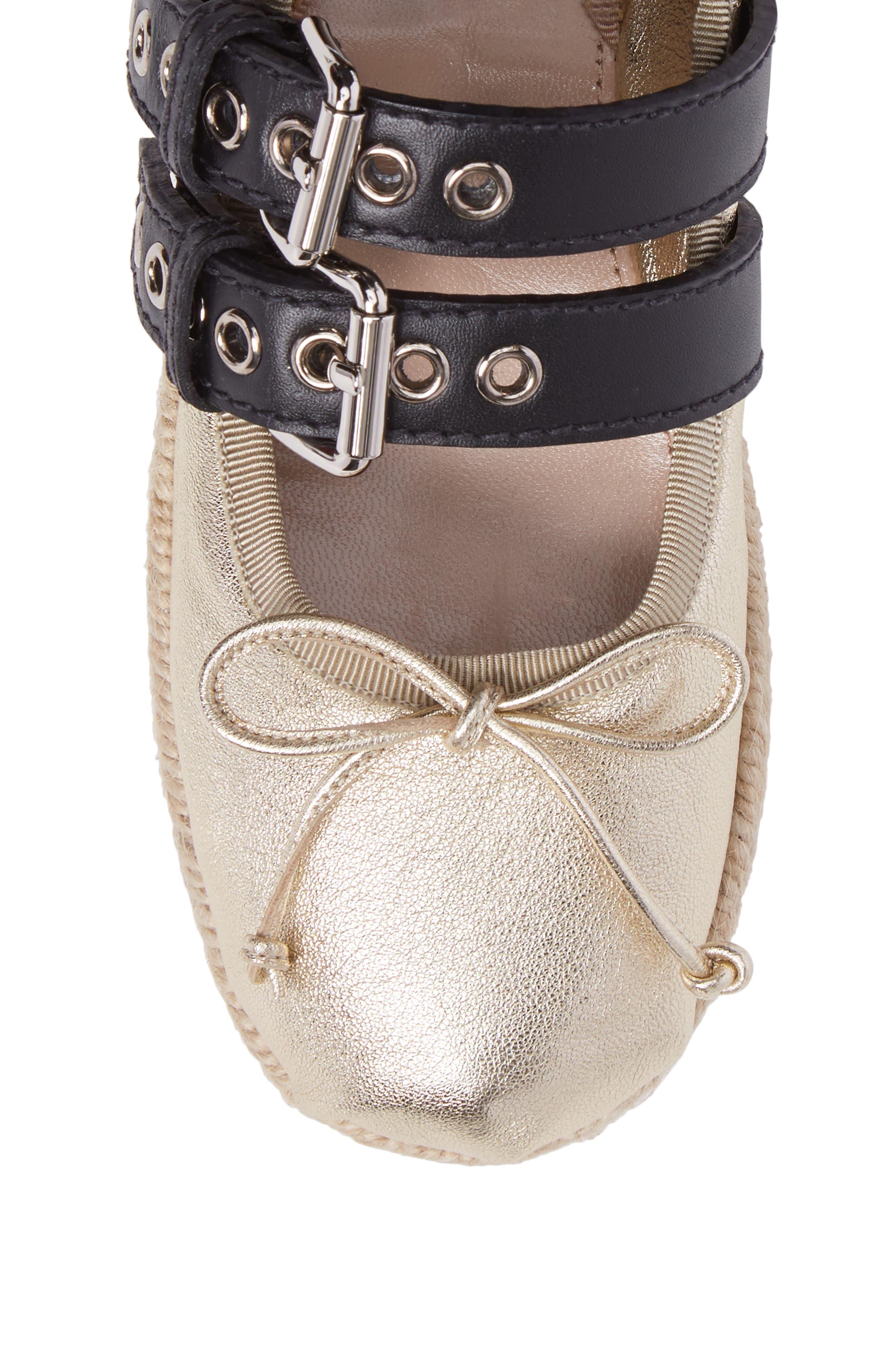Alternate Image 4  - Miu Miu Ankle Wrap Platform Espadrille (Women)