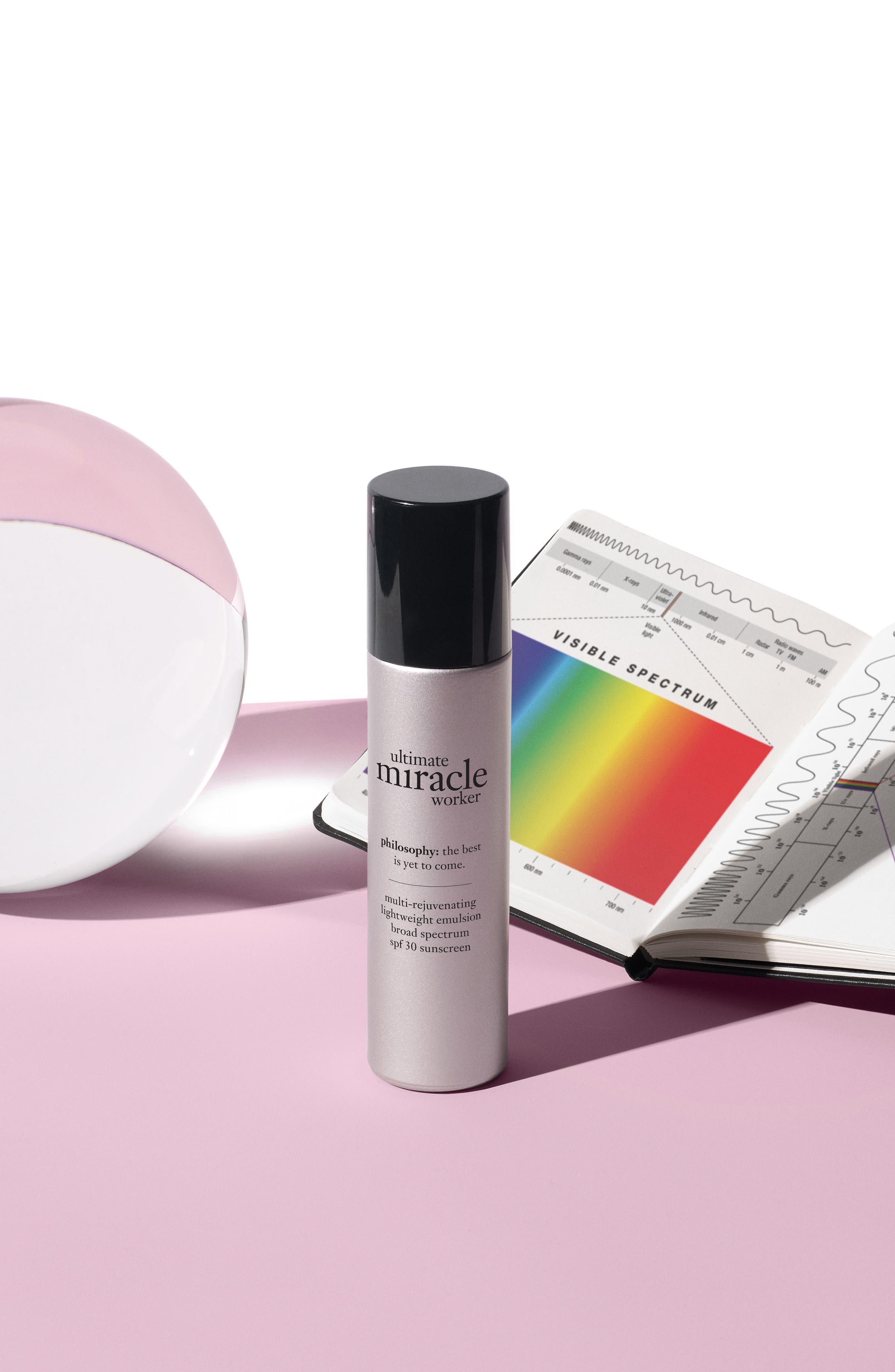 'ultimate miracle worker' multi-rejuvenating lightweight emulsion broad spectrum SPF 30 sunscreen,                             Alternate thumbnail 2, color,                             No Color