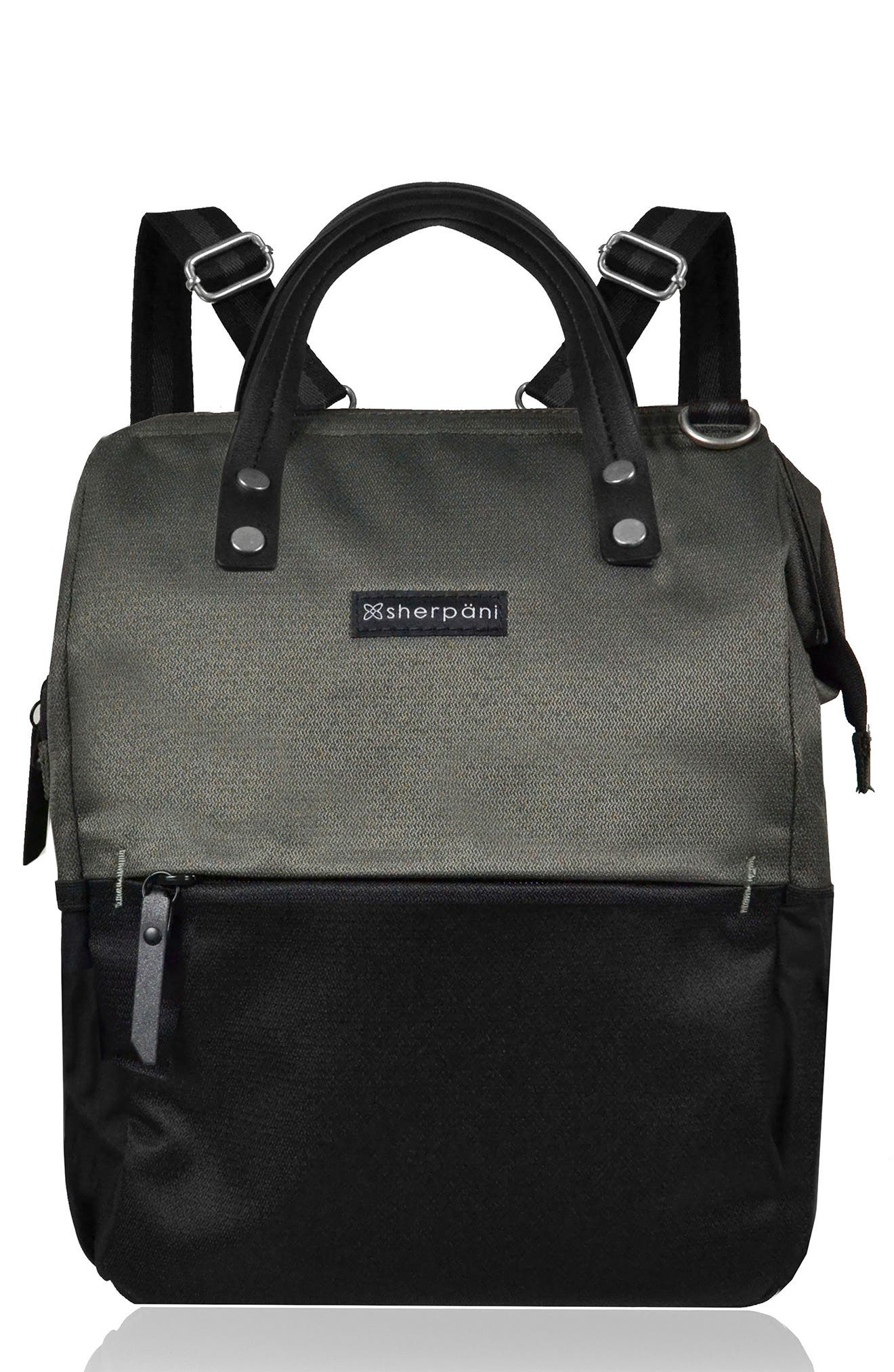 Dispatch Water Resistant RFID Pocket Convertible Backpack,                         Main,                         color, Ash