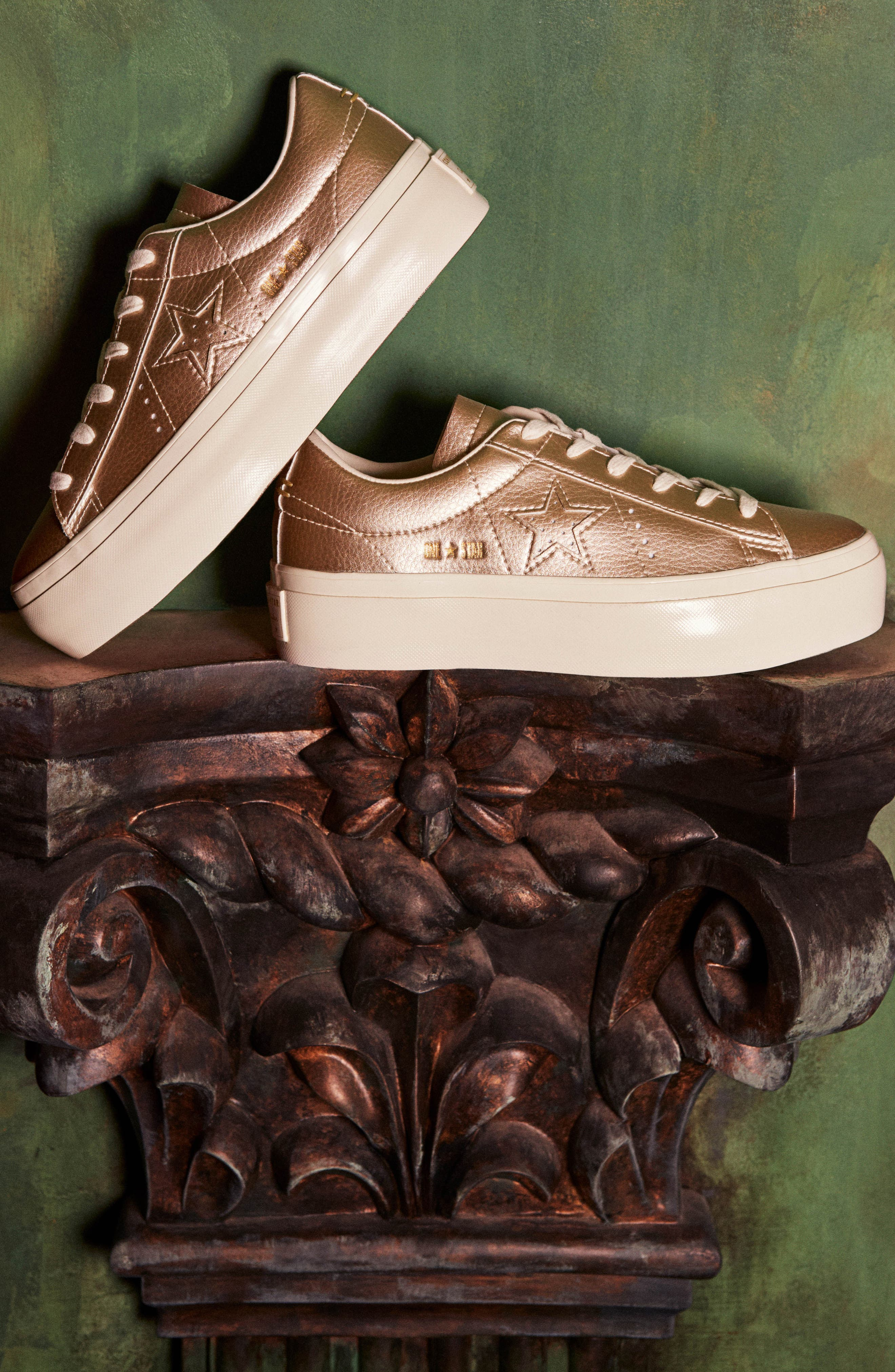 Alternate Image 7  - Converse Chuck Taylor® All Star® One Star Metallic Platform Sneaker (Women)