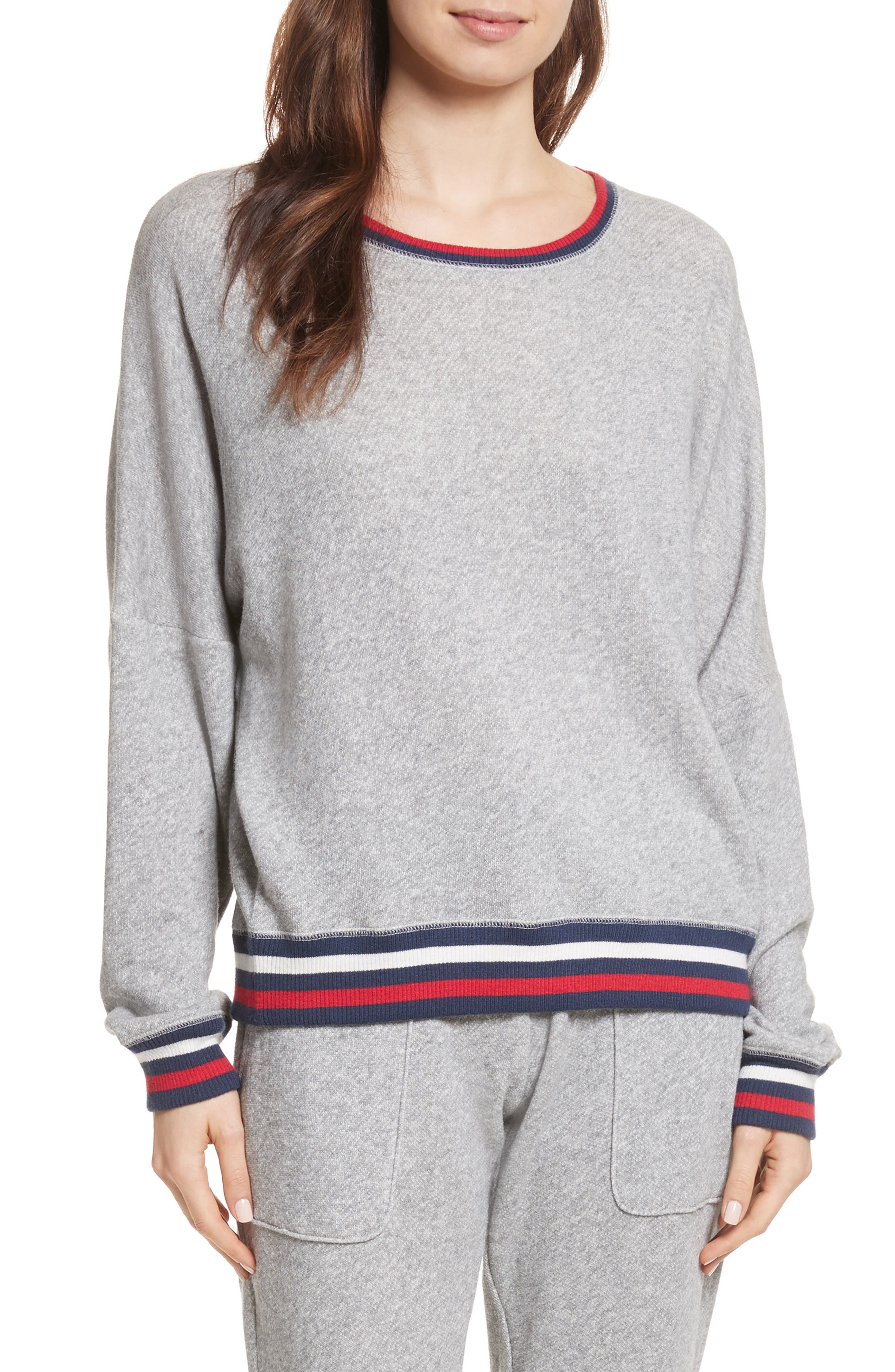 Richardine B Sweatshirt,                         Main,                         color, Heather Grey
