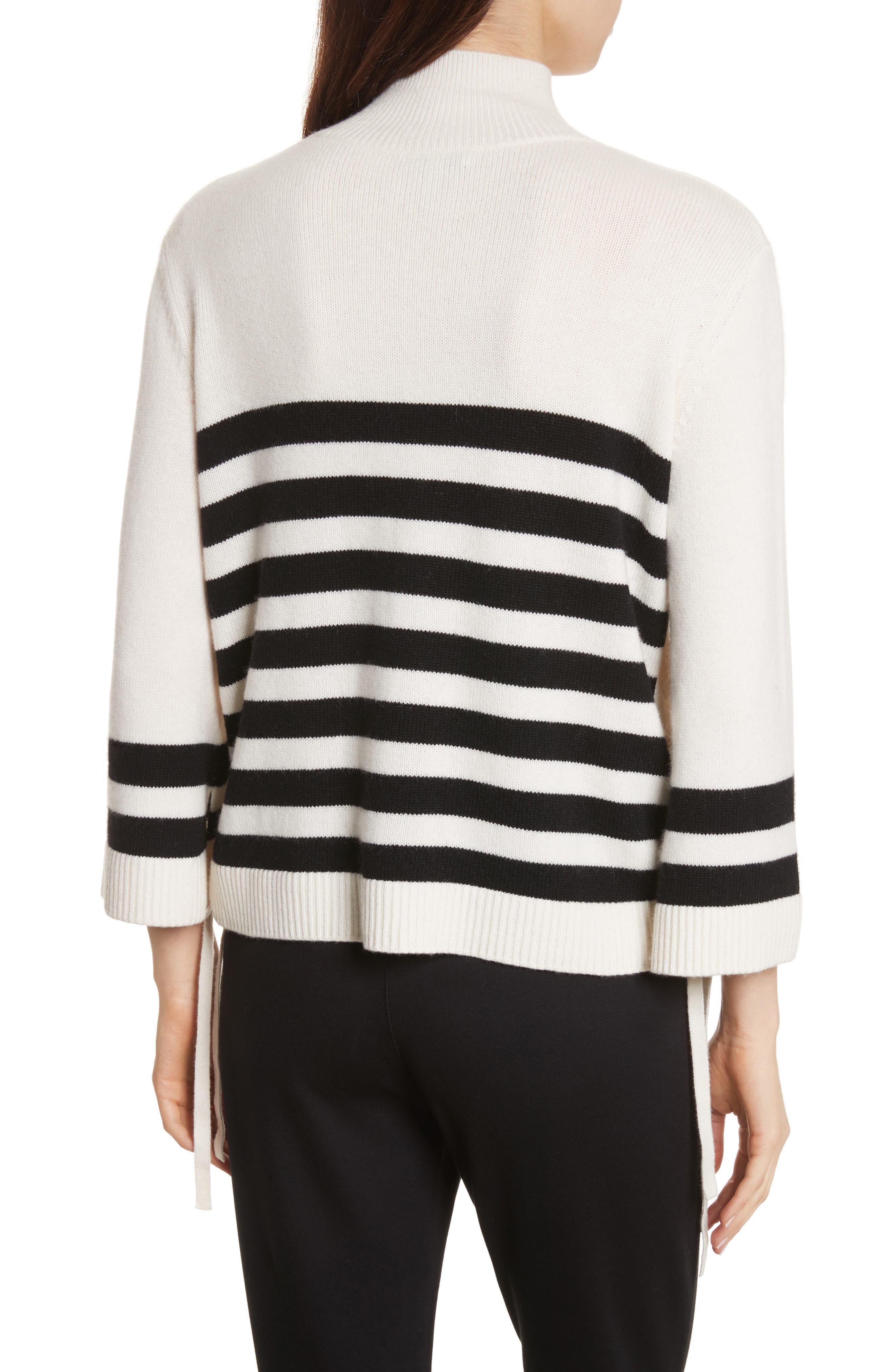 Lantz Mariner Sweater,                             Alternate thumbnail 2, color,                             Porcelain/ Caviar