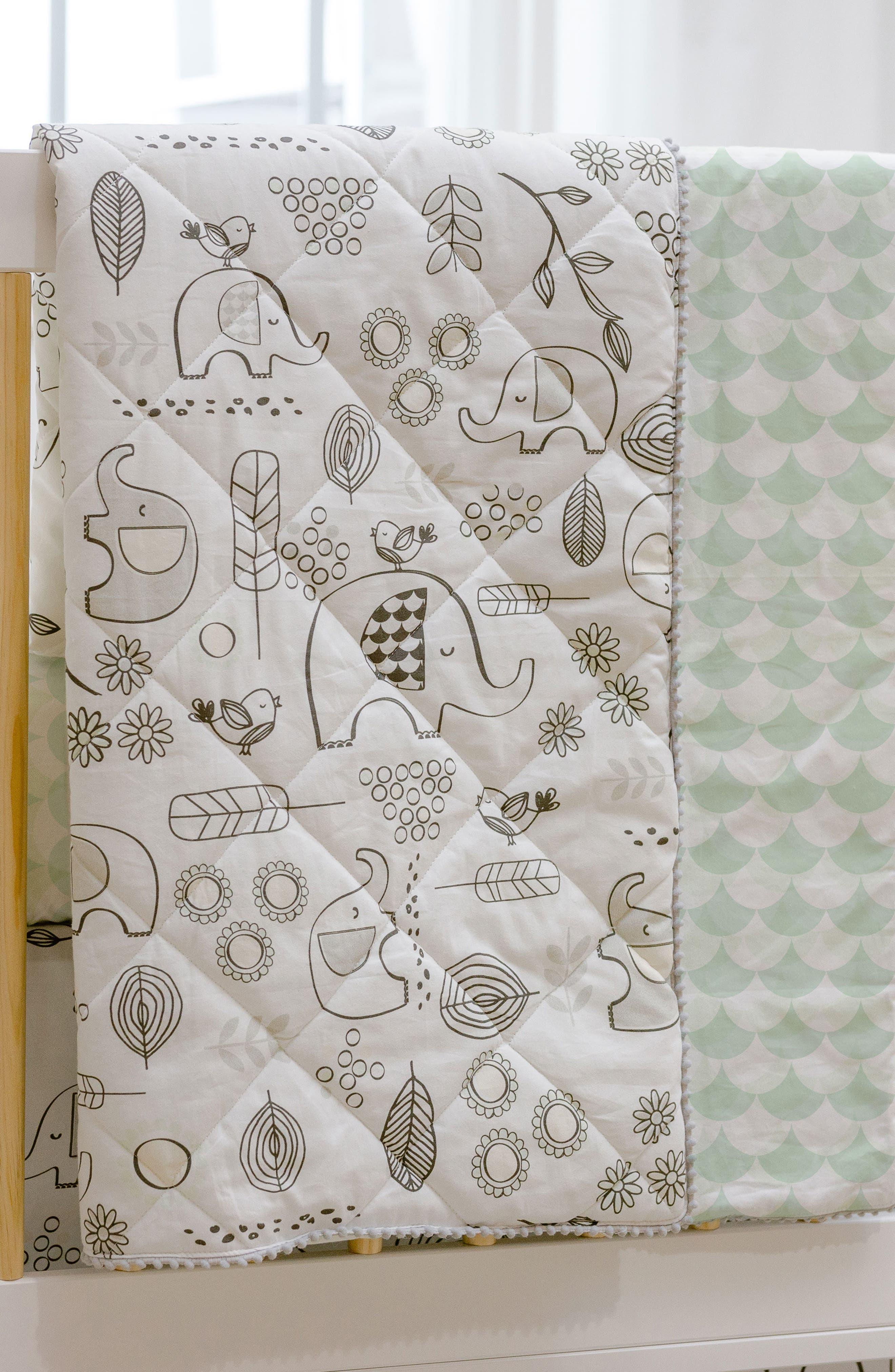 Elle Elephant 4-Piece Crib Bedding Set,                             Alternate thumbnail 3, color,                             Kayden - Elle Elephant