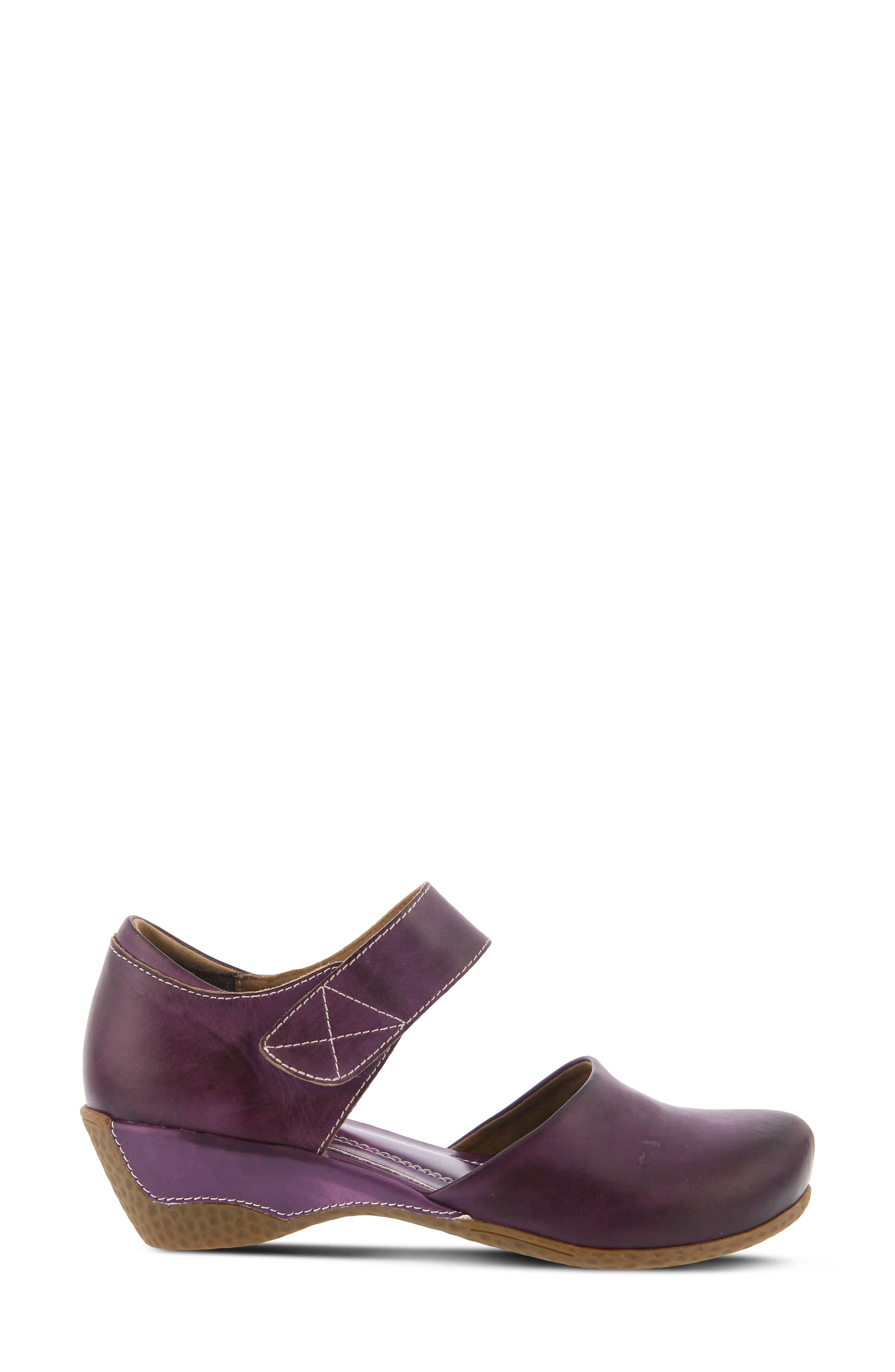 L'Artiste Gloss Mary Jane Pump,                             Alternate thumbnail 3, color,                             Purple Leather