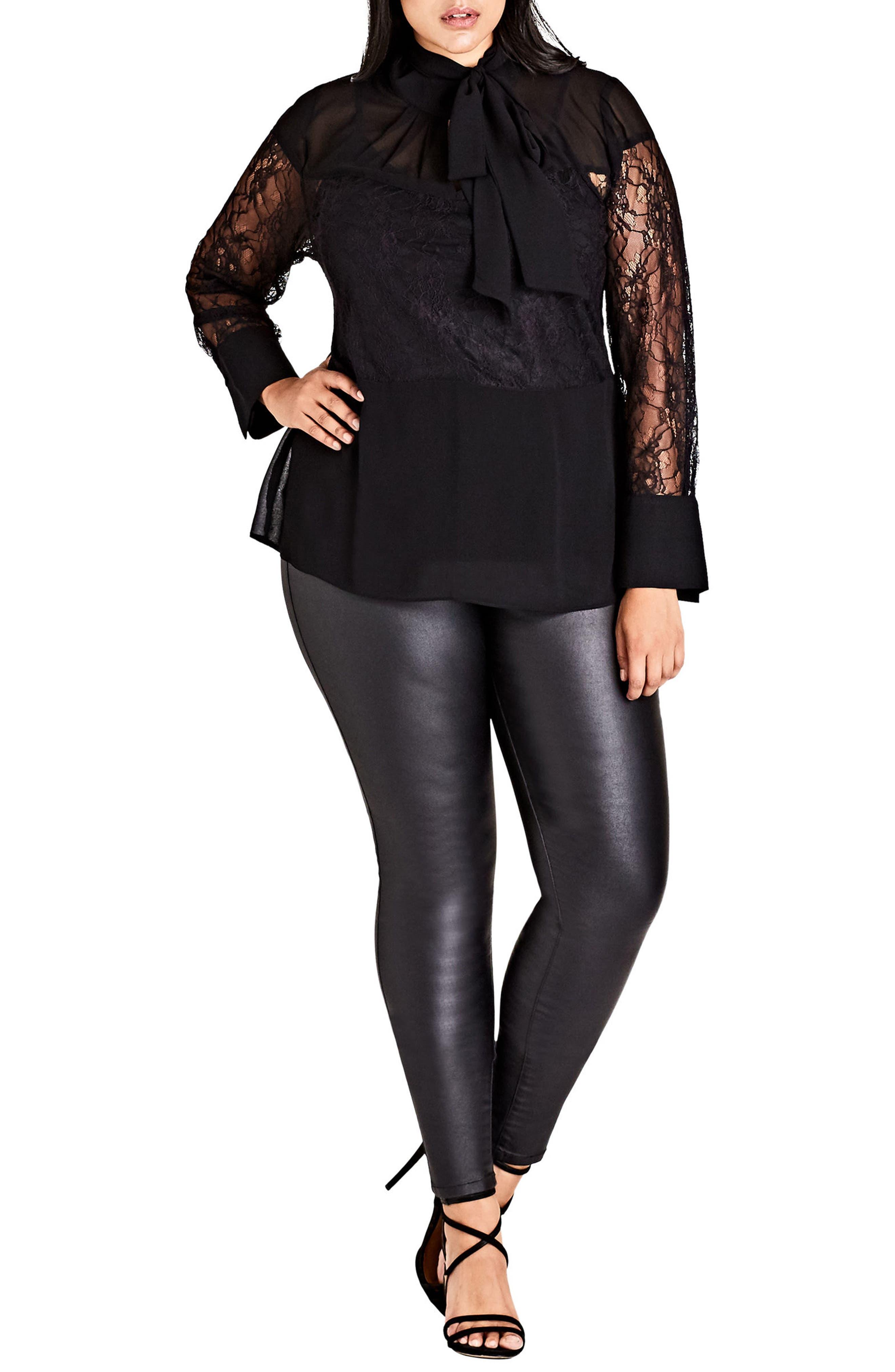 City Chic Divine Lace Blouse (Plus Size)