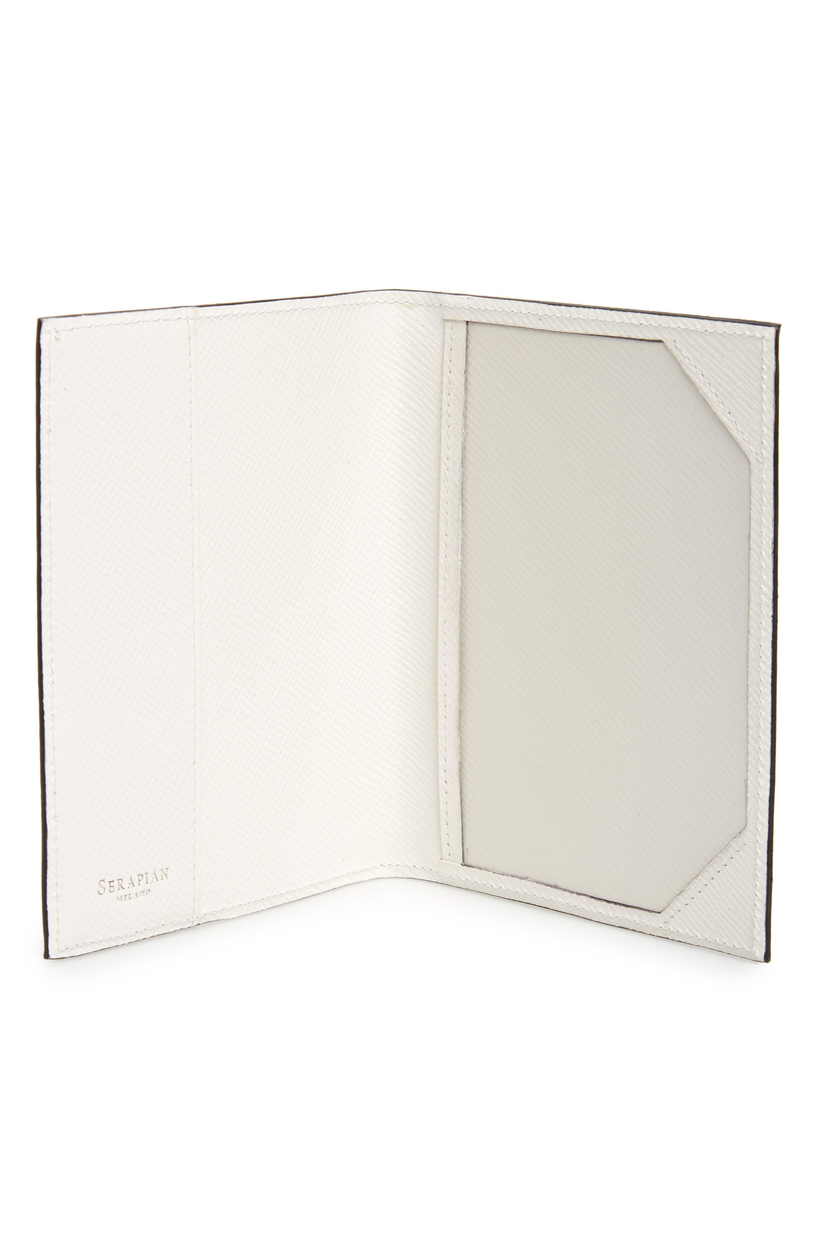 Alternate Image 4  - Serapian Milano Evolution Leather Passport Case