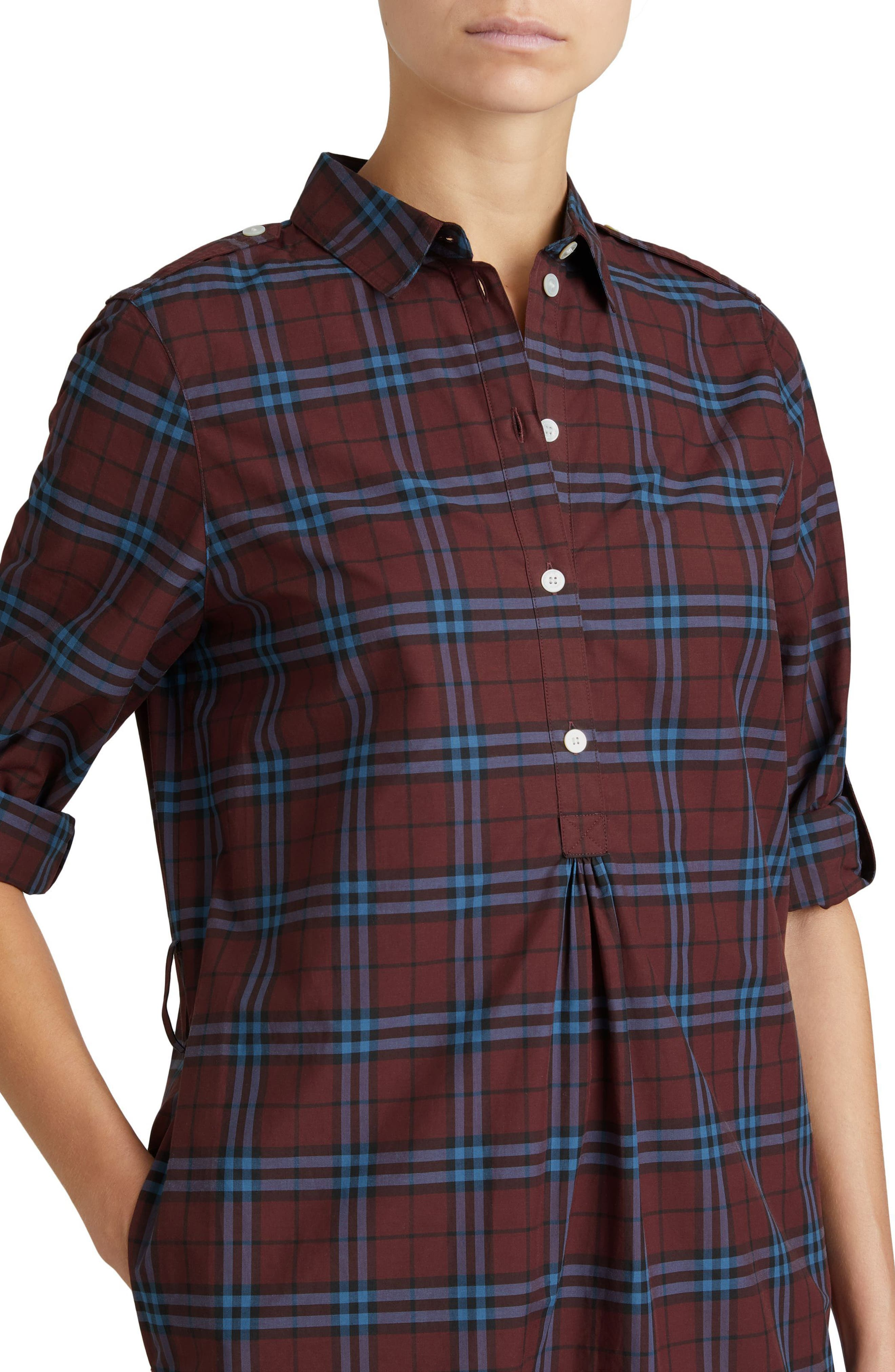 Alternate Image 4  - Burberry Kelsy Cotton Check Shirtdress