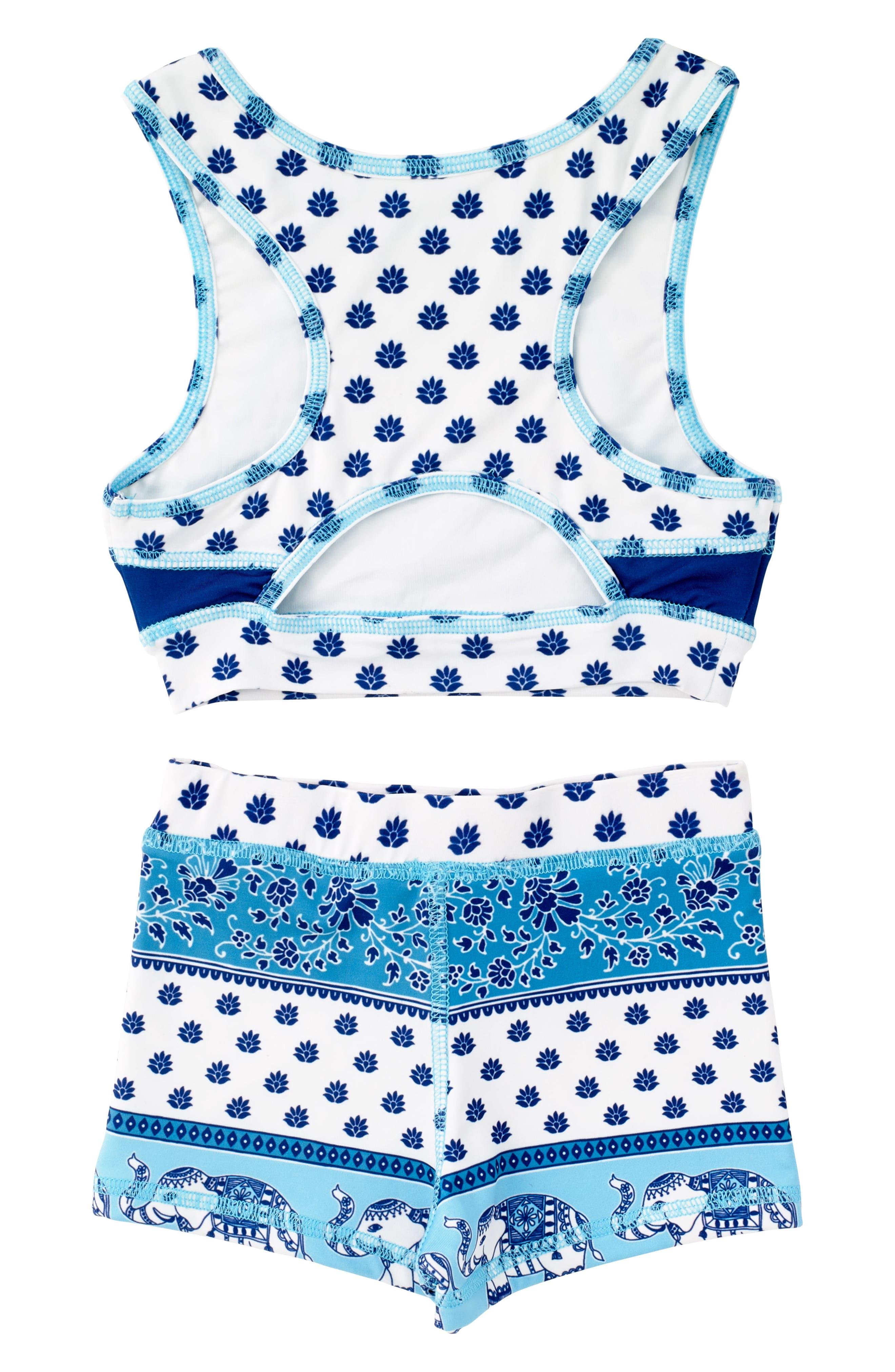 Alternate Image 2  - Masasla Baby Two-Piece Racerback Swimsuit (Toddler Girls)
