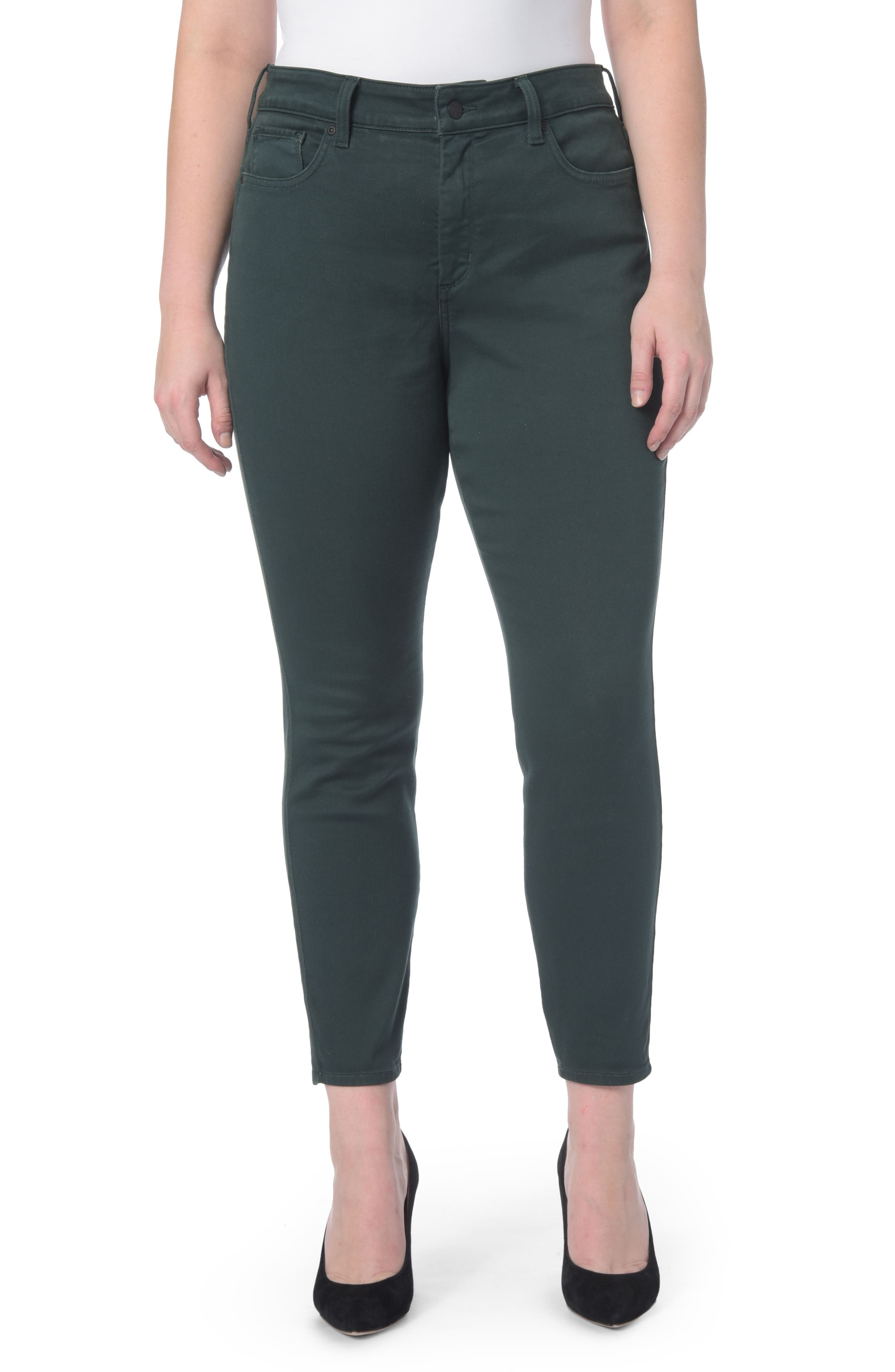 Ami Stretch Skinny Jeans,                             Main thumbnail 1, color,                             Green