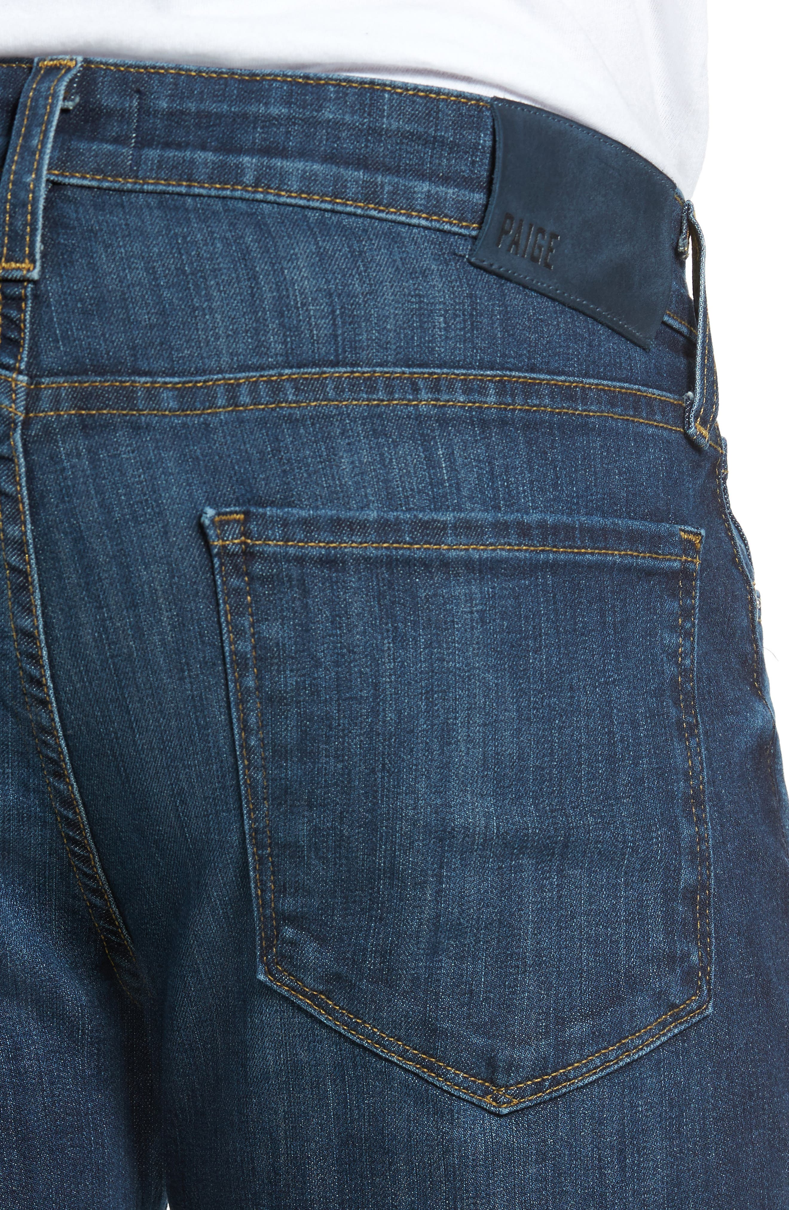 Alternate Image 4  - PAIGE Lennox Slim Fit Jeans (Ridge)