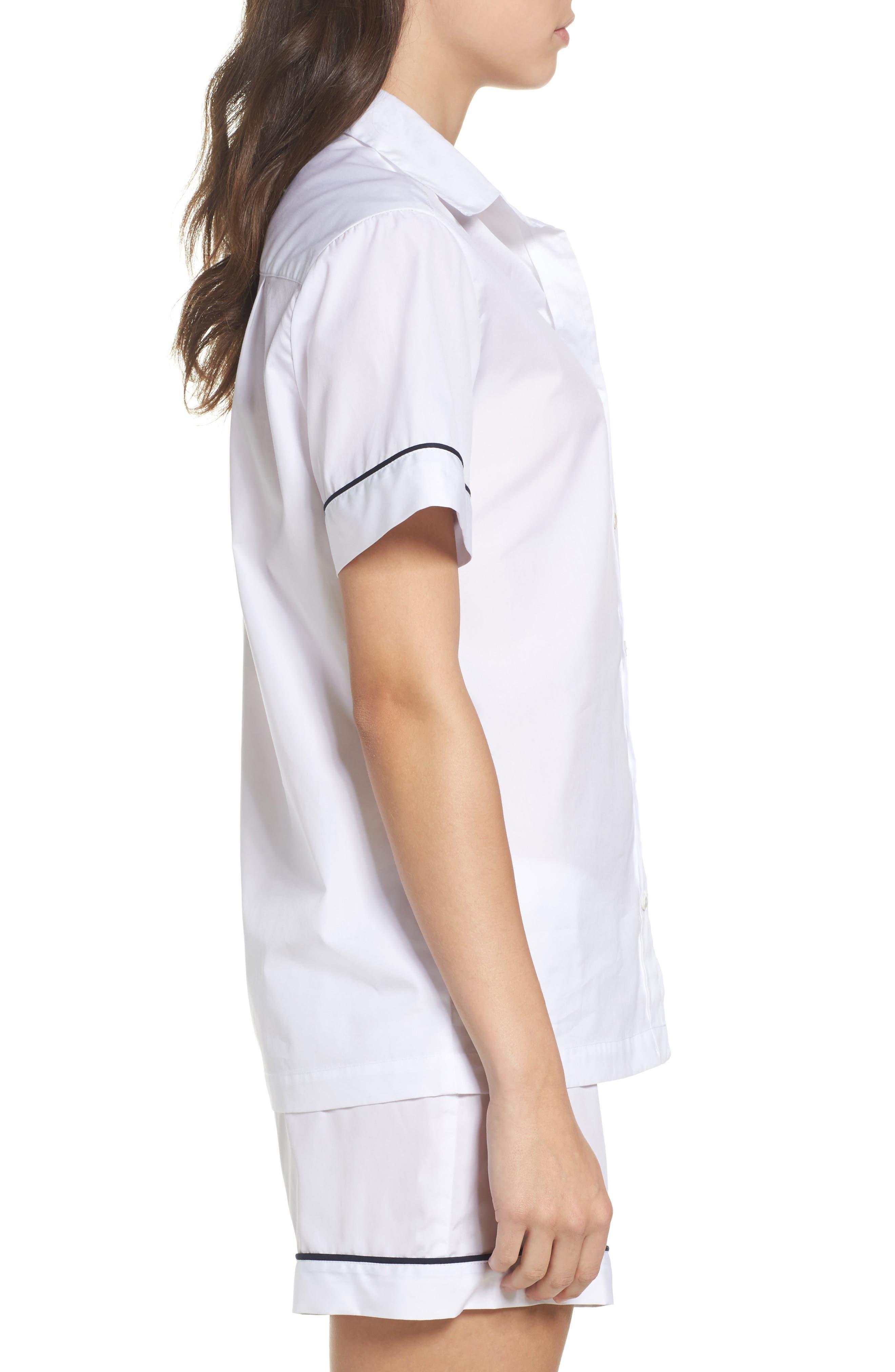 Alternate Image 3  - Pour Les Femmes Piped Sleep Shirt