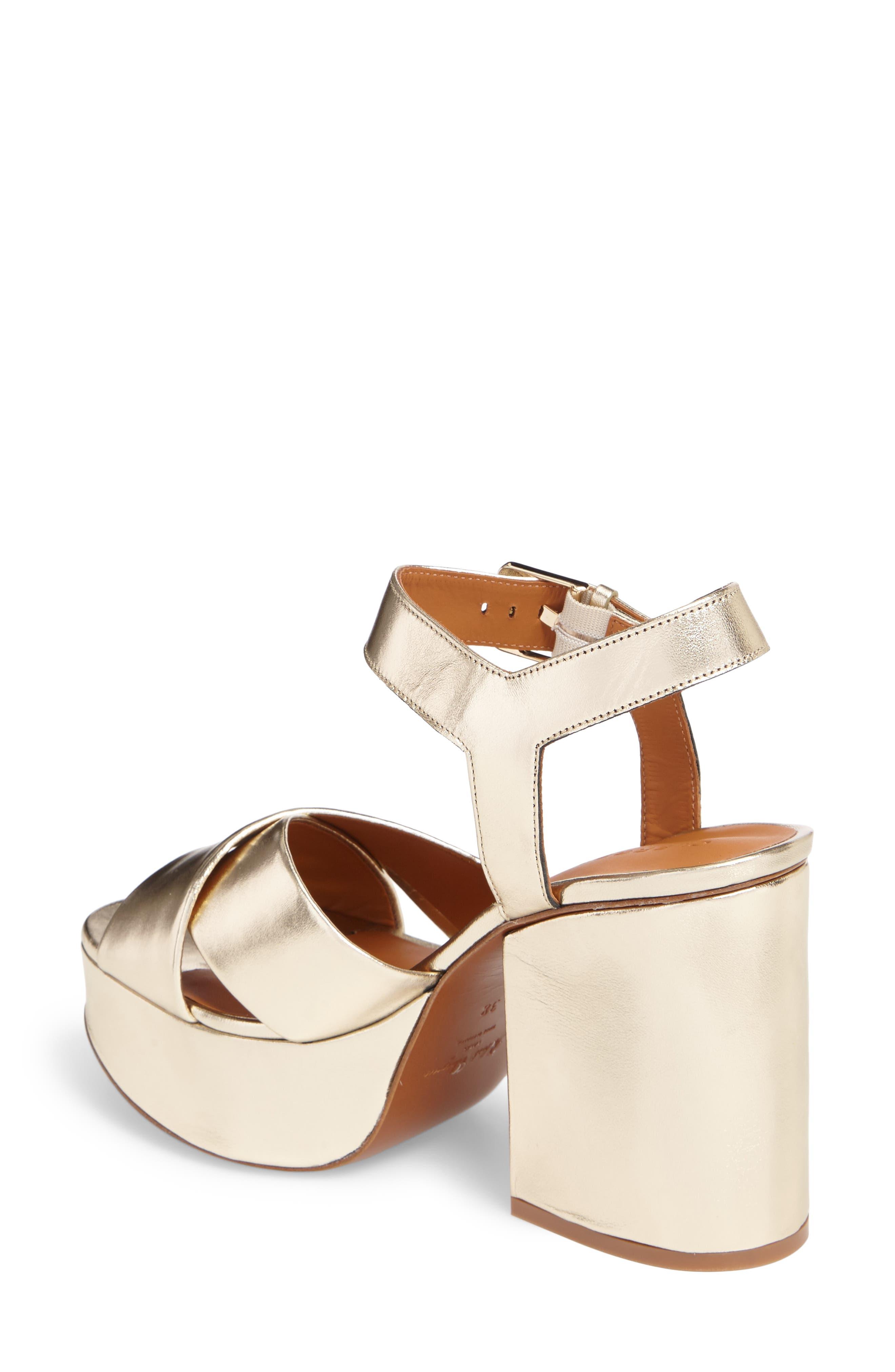Vianne Ankle Strap Platform Sandal,                             Alternate thumbnail 2, color,                             Metallic Gold