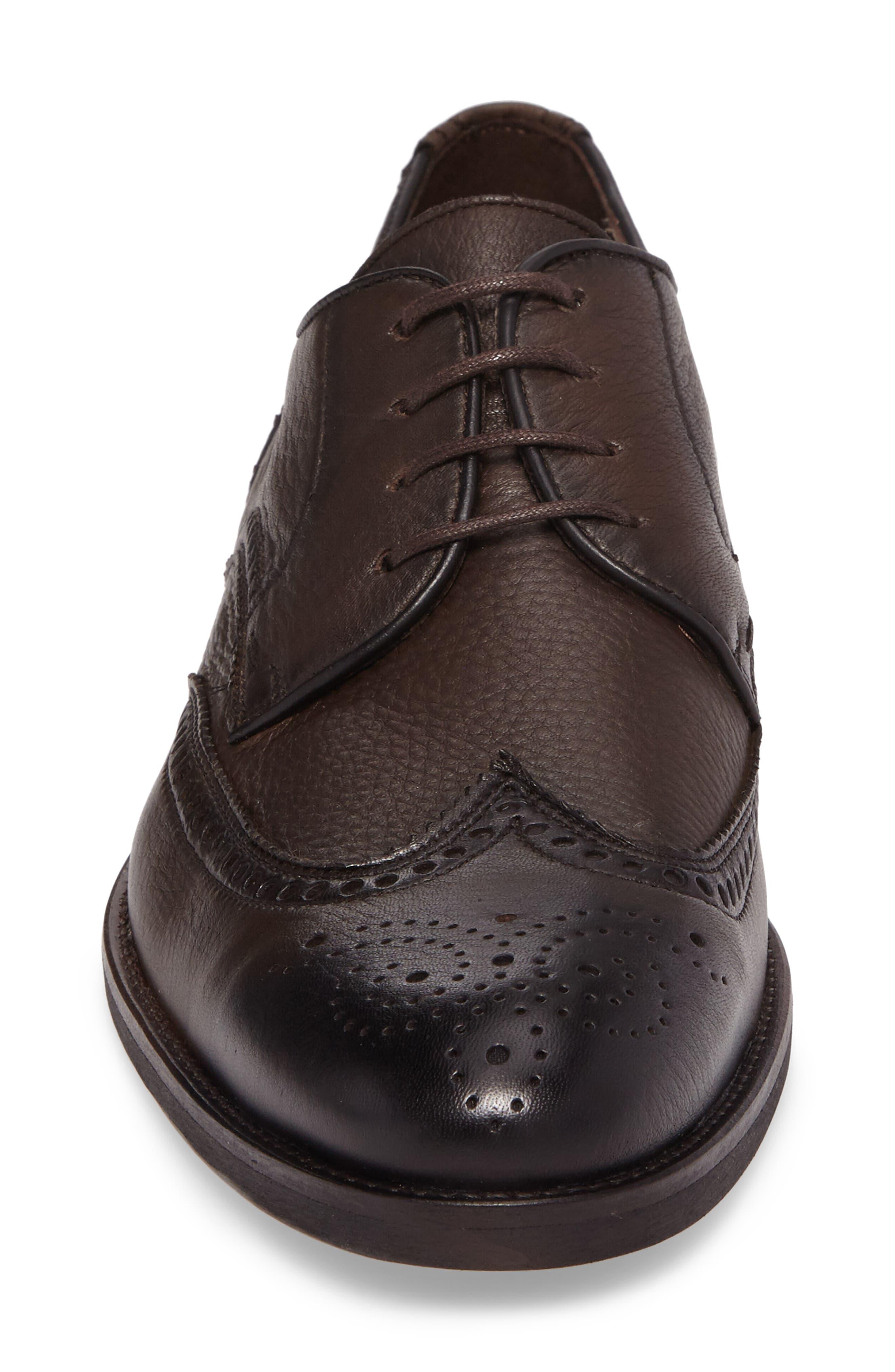 Rinaldi Wingtip,                             Alternate thumbnail 4, color,                             Ebano Leather