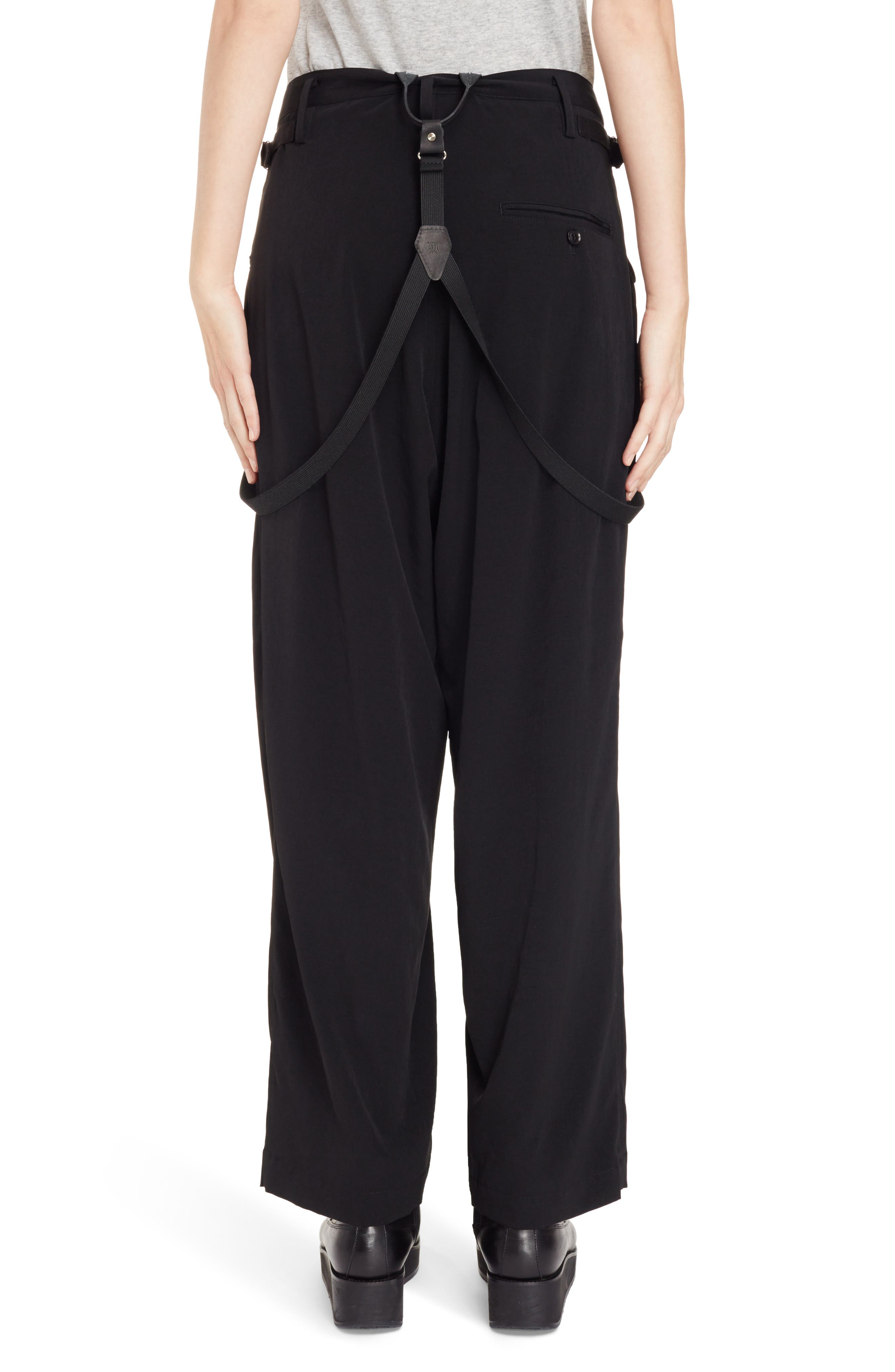 Alternate Image 3  - Y's by Yohji Yamamoto Pants with Suspenders