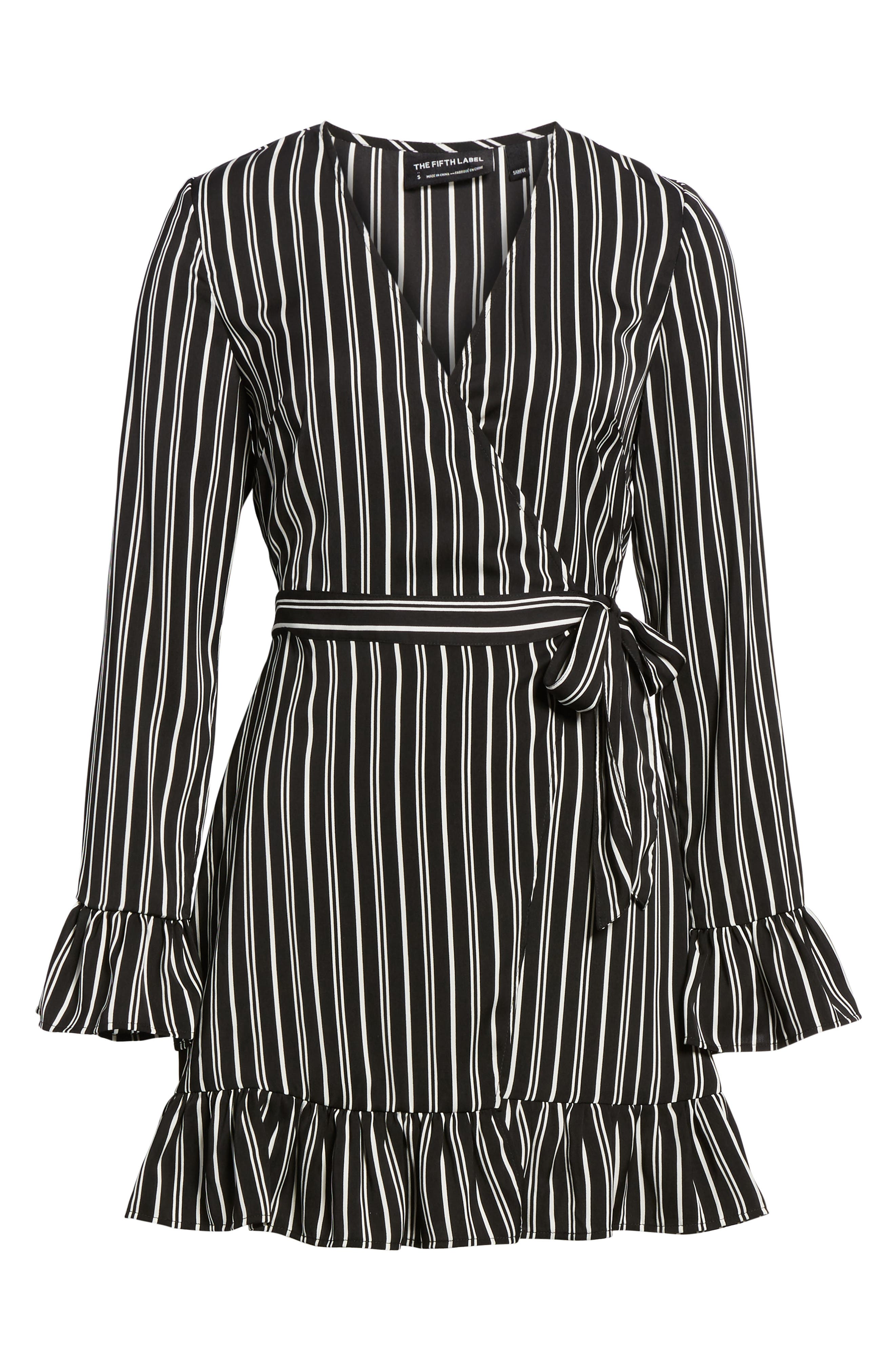 Alternate Image 6  - The Fifth Label Ophelia Stripe Wrap Dress