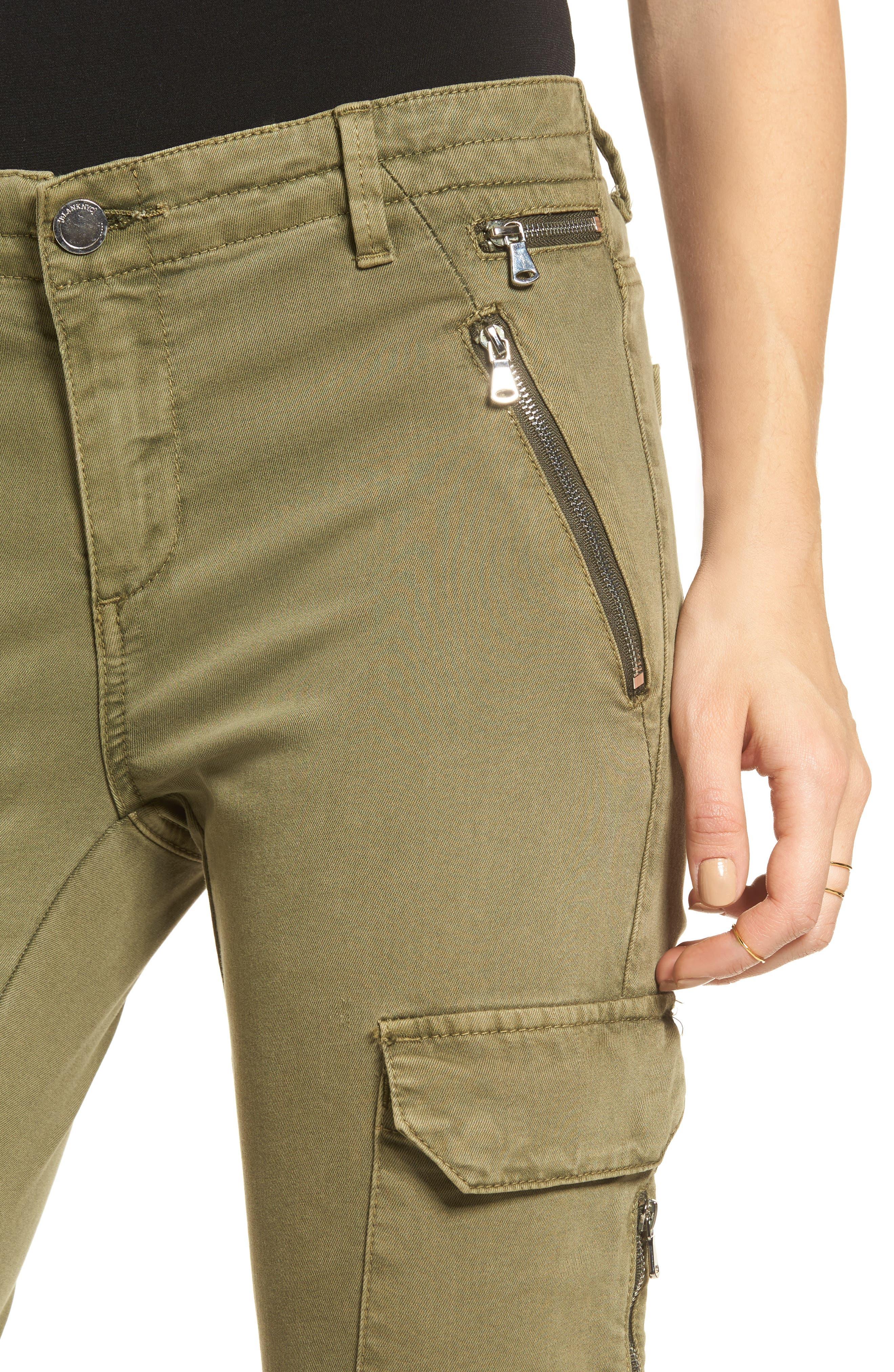 Skinny Cargo Pants,                             Alternate thumbnail 4, color,                             Olive
