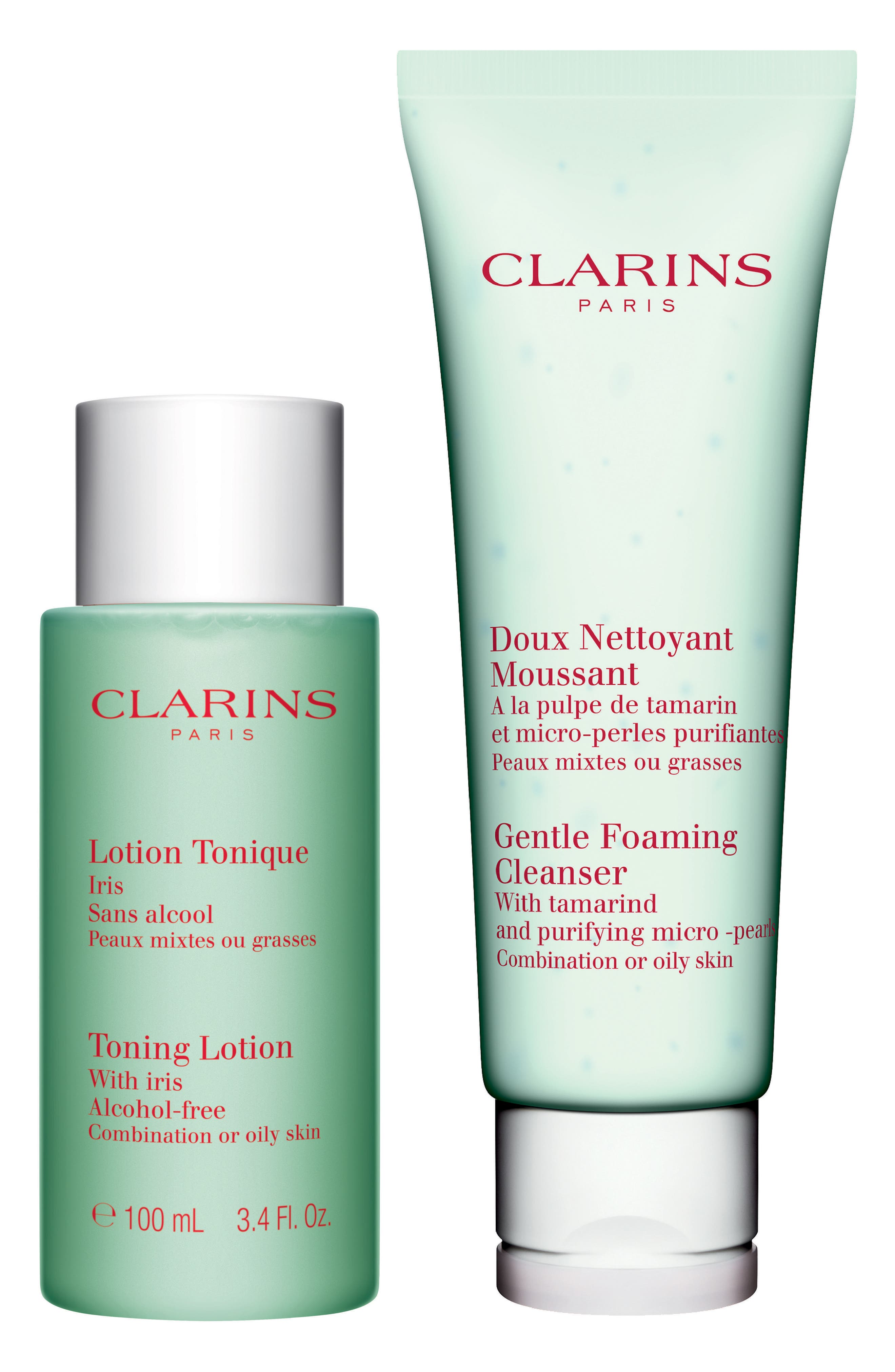 Alternate Image 1 Selected - Clarins Cleansing Essentials for Oil or Combination Skin Types