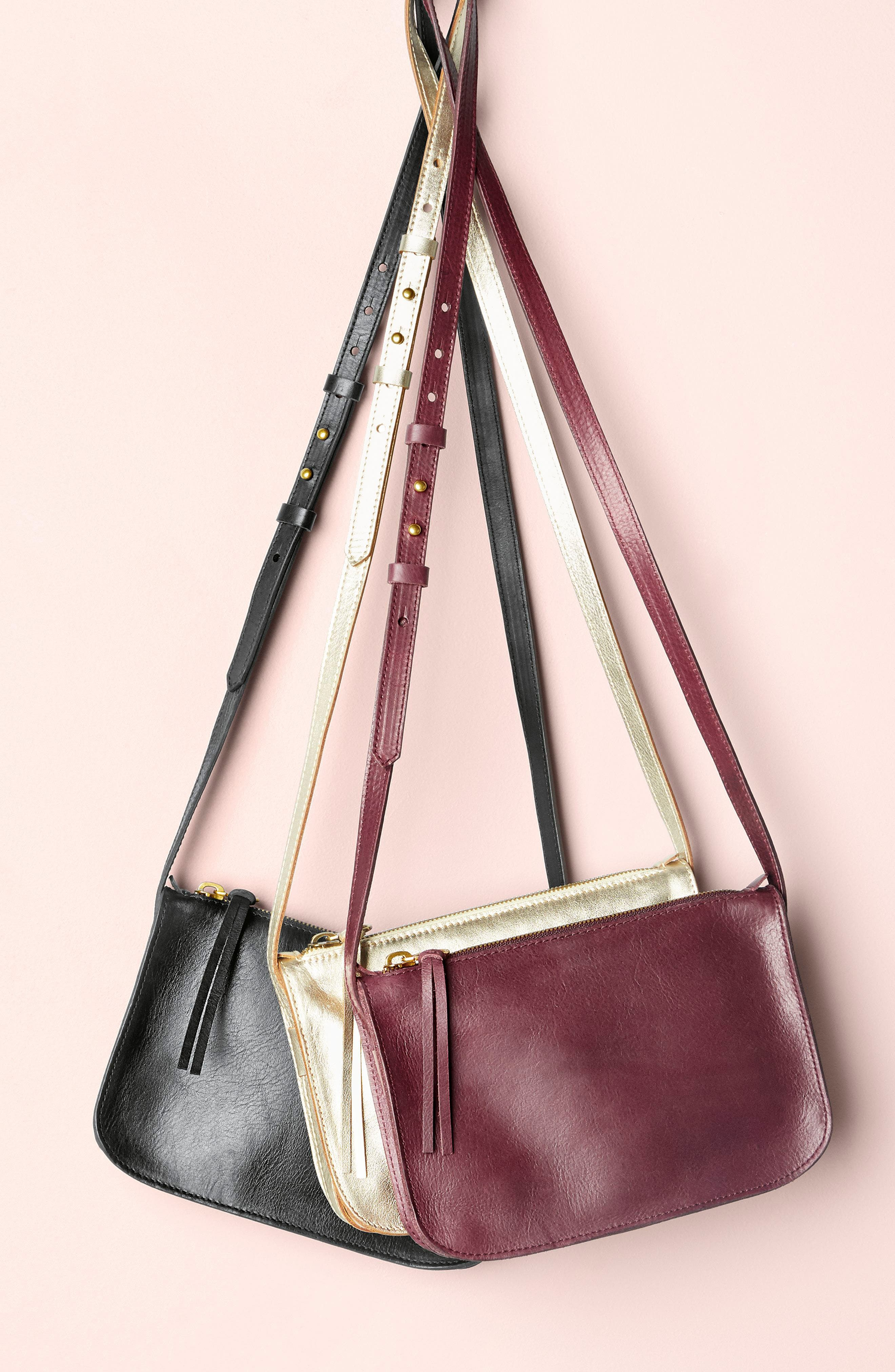 The Simple Leather Crossbody Bag,                             Alternate thumbnail 7, color,