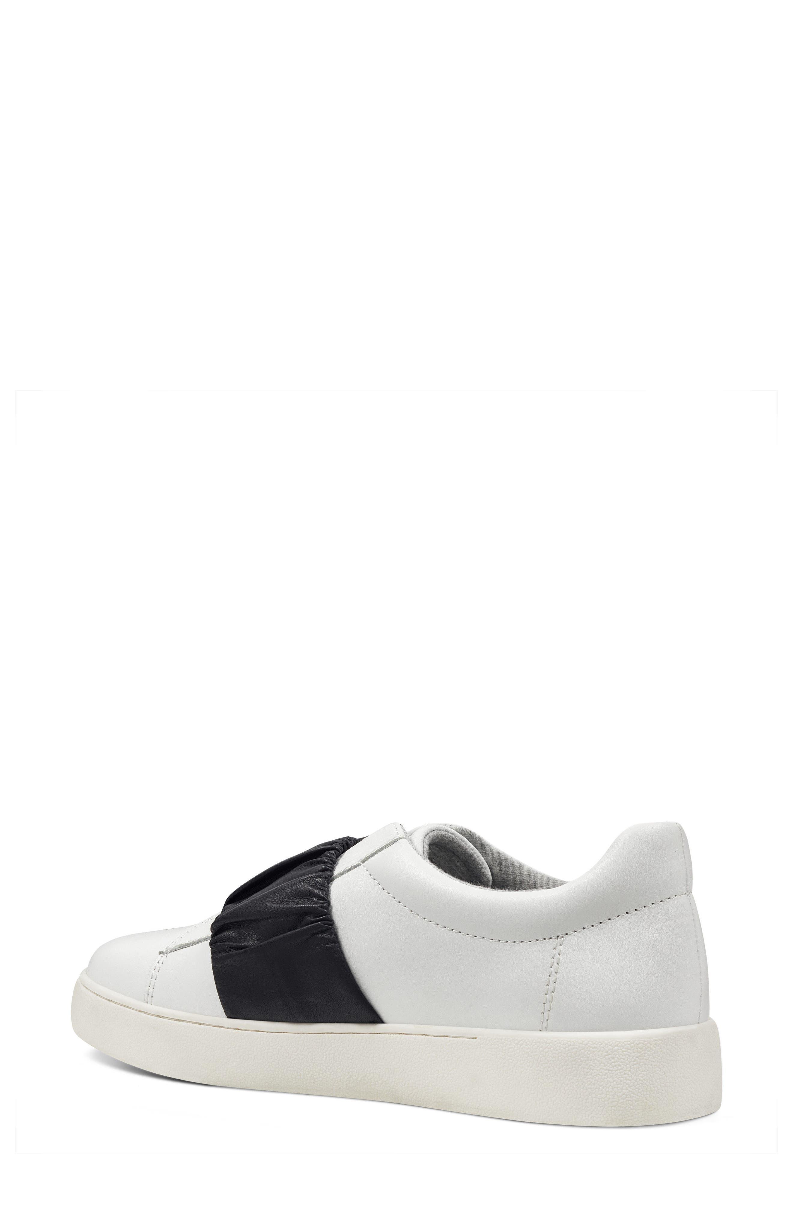 Pindiviah Slip-On Sneaker,                             Alternate thumbnail 2, color,                             White/ Black Leather