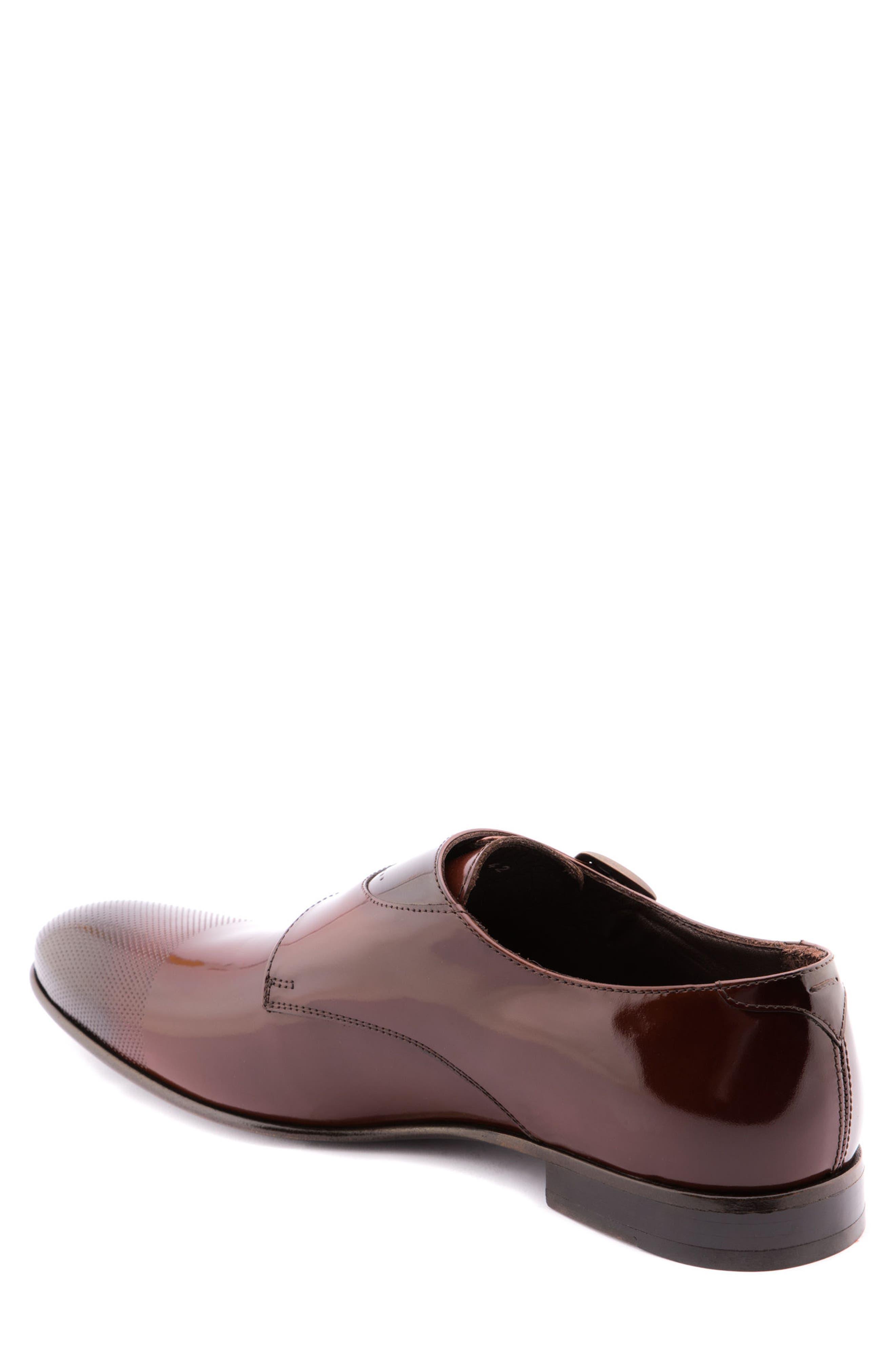 Martin Double Monk Strap Shoe,                             Alternate thumbnail 2, color,                             Brown