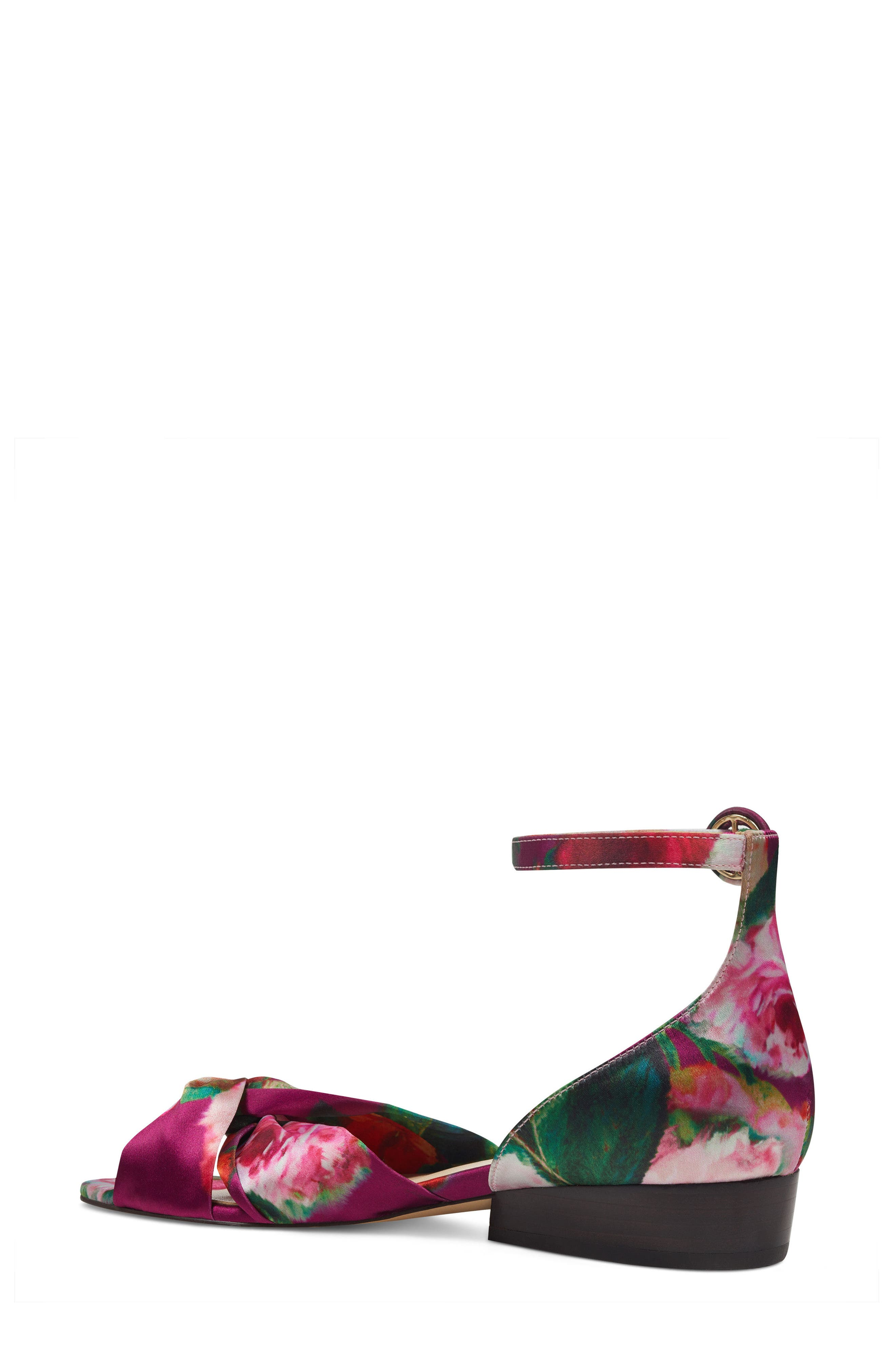 Lumsi Ankle Strap Sandal,                             Alternate thumbnail 2, color,                             Pink Multi Satin