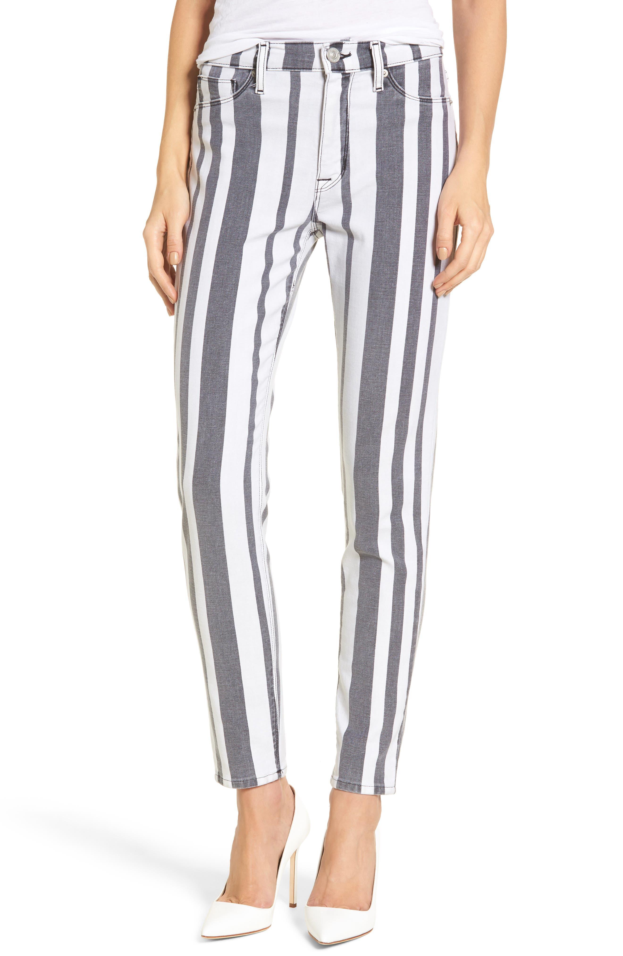 Barbara High Waist Ankle Super Skinny Jeans,                             Main thumbnail 1, color,                             Undertaking