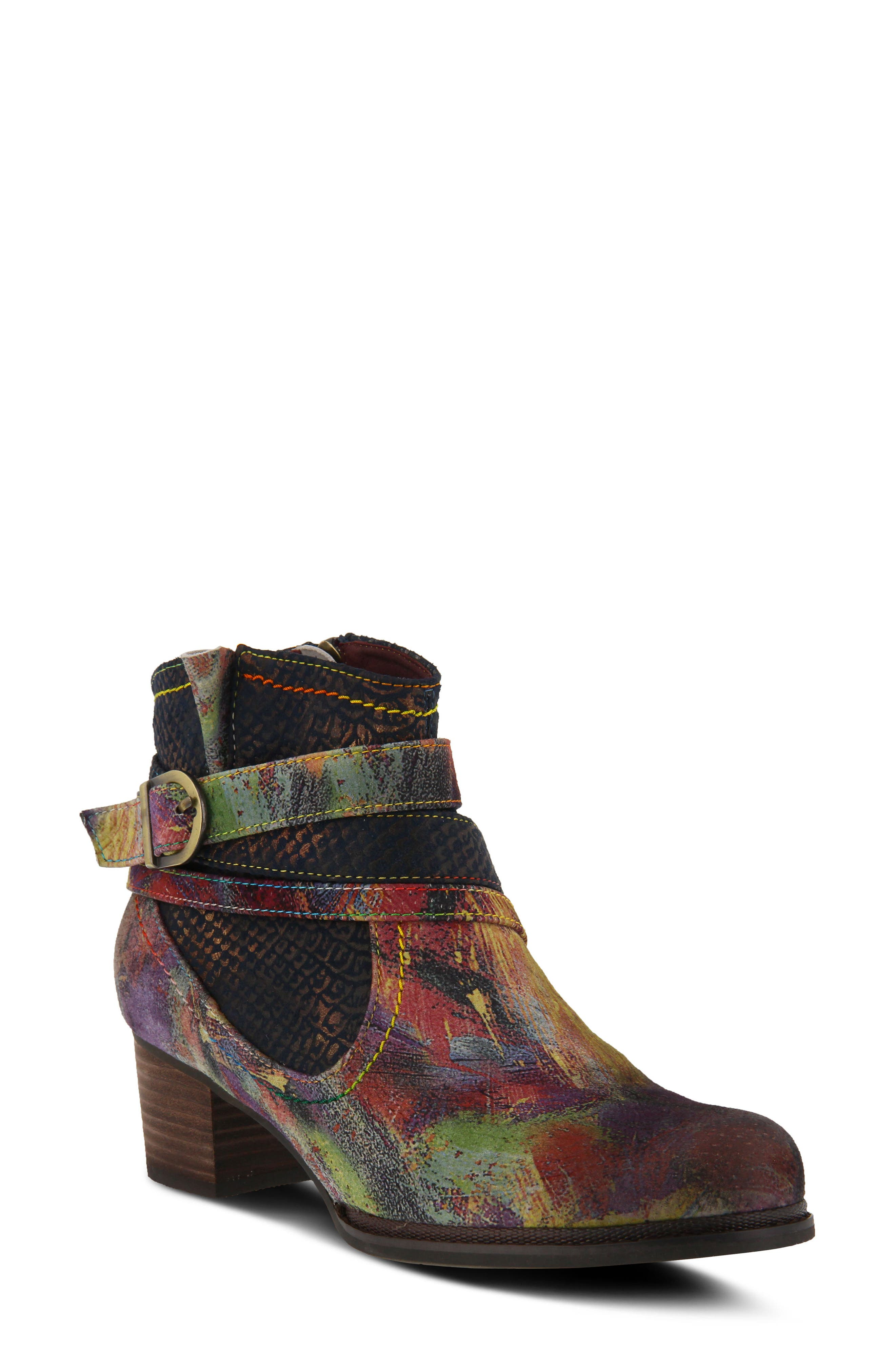 L'Artiste Shazzam Boot,                             Main thumbnail 1, color,                             Navy Leather