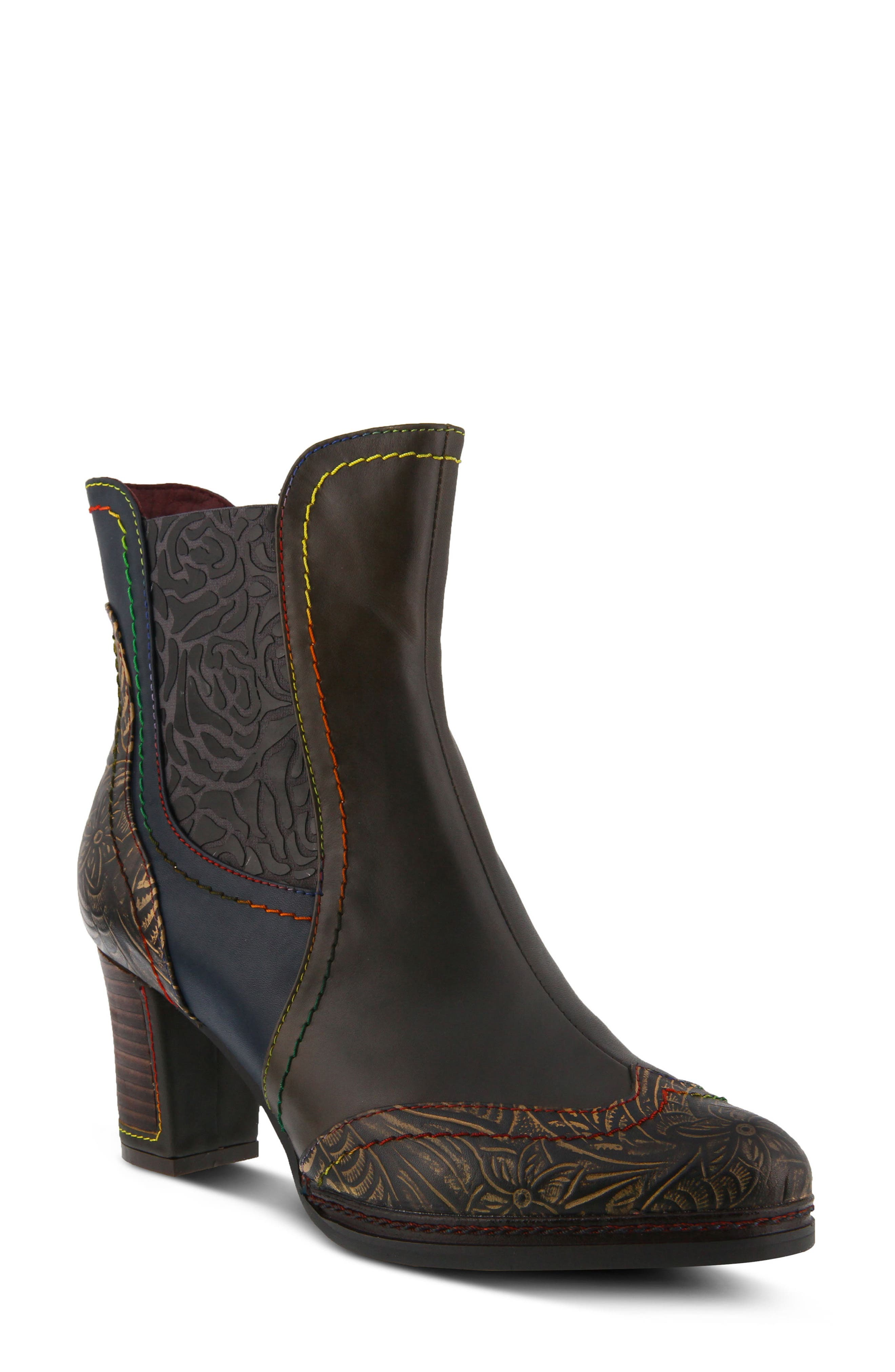 L'Artiste Santana Boot,                             Main thumbnail 1, color,                             Olive Green Leather