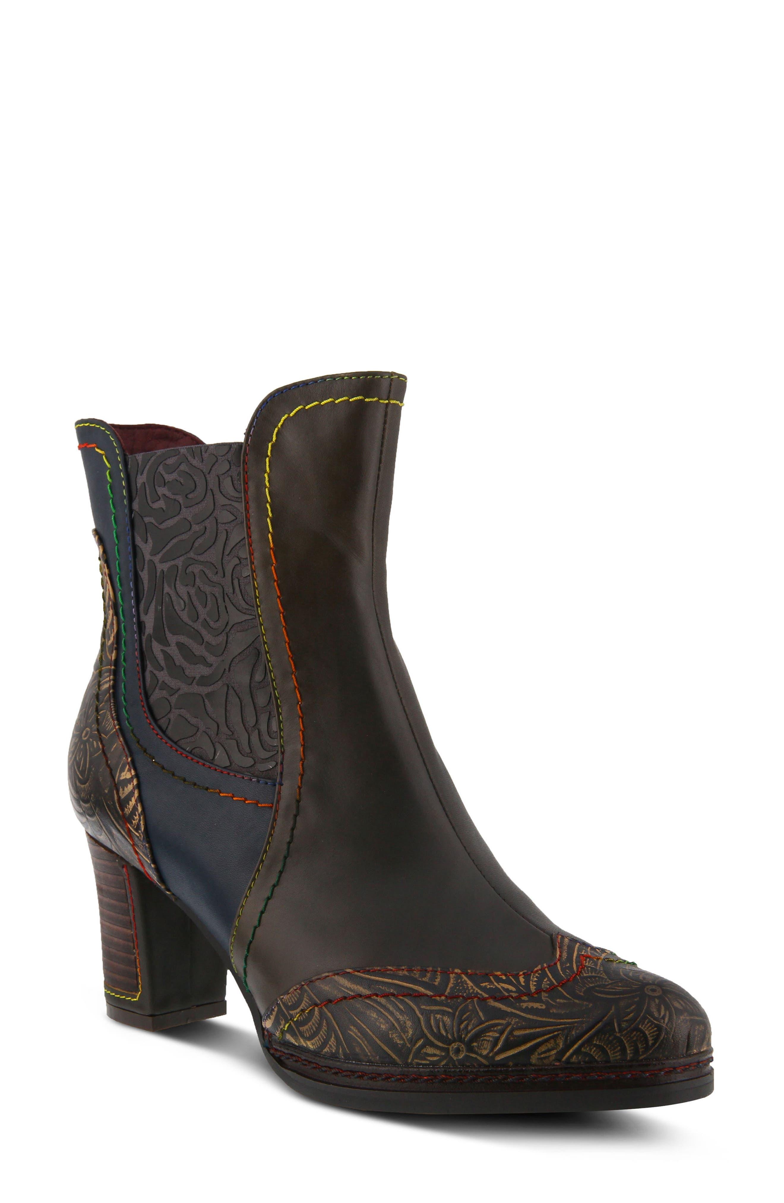 L'Artiste Santana Boot,                         Main,                         color, Olive Green Leather