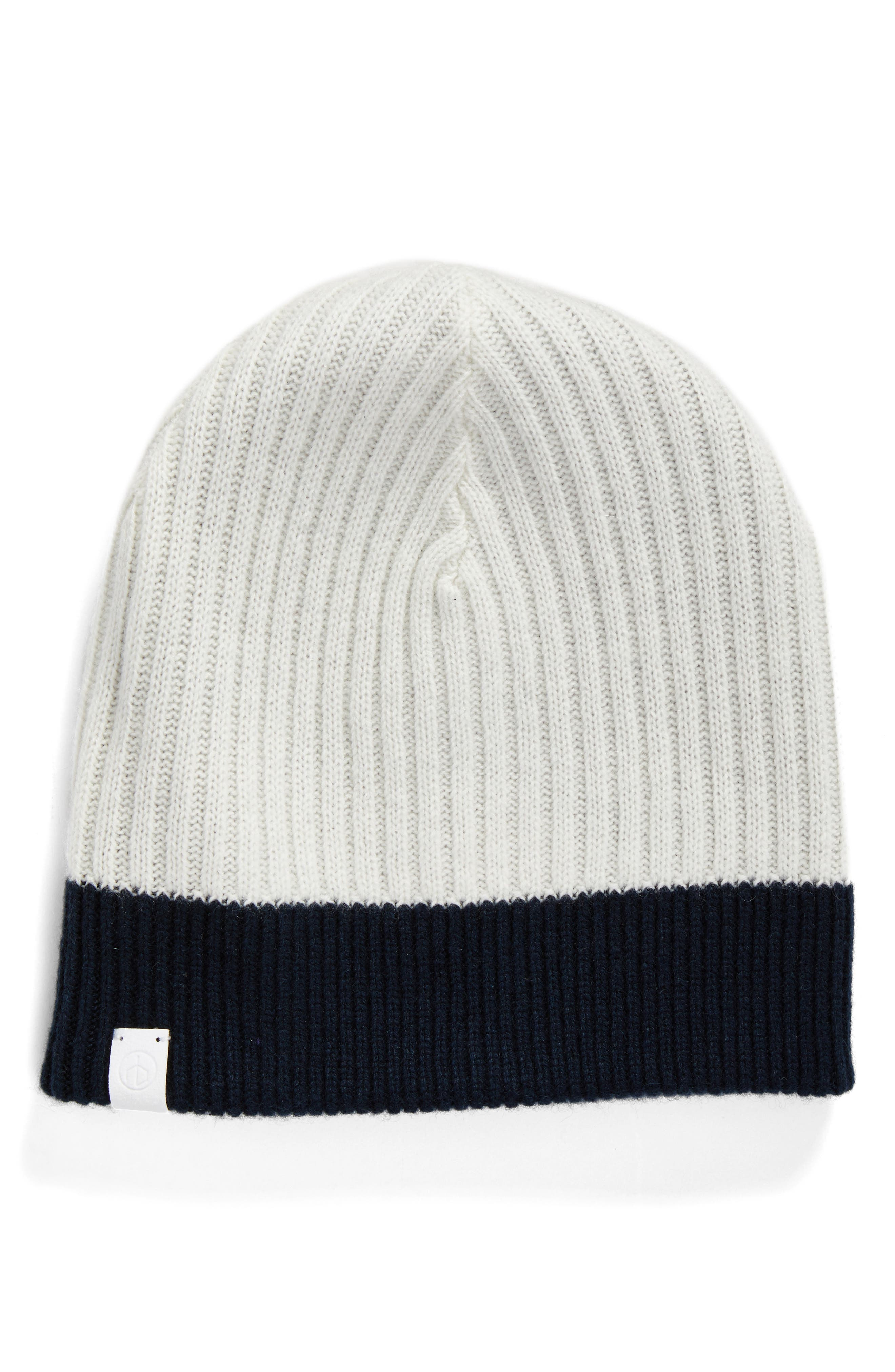 Ace Reversible Cashmere Beanie,                             Alternate thumbnail 2, color,                             Navy