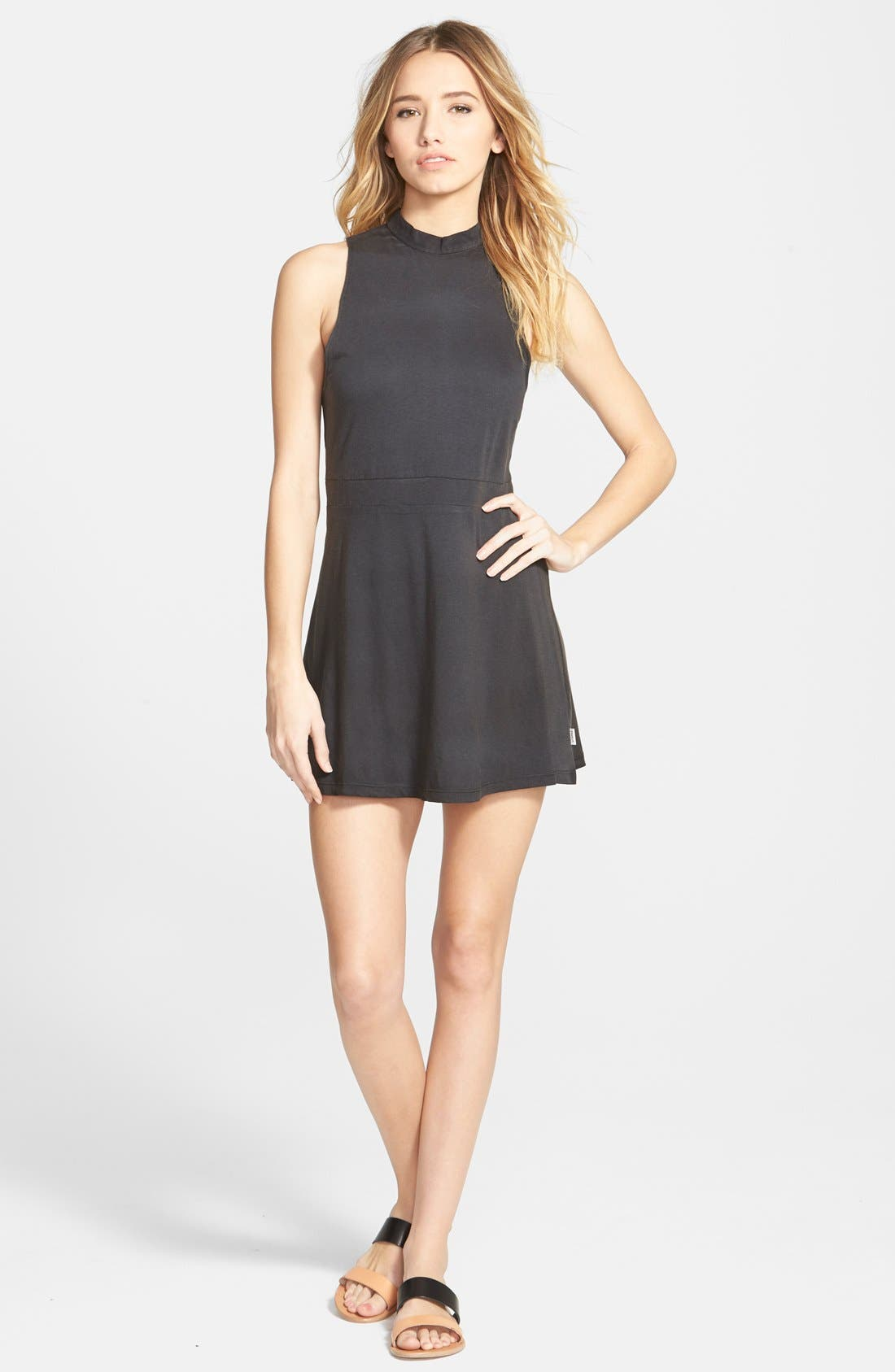 Main Image - RVCA 'Early Brunch' Cotton Skater Dress
