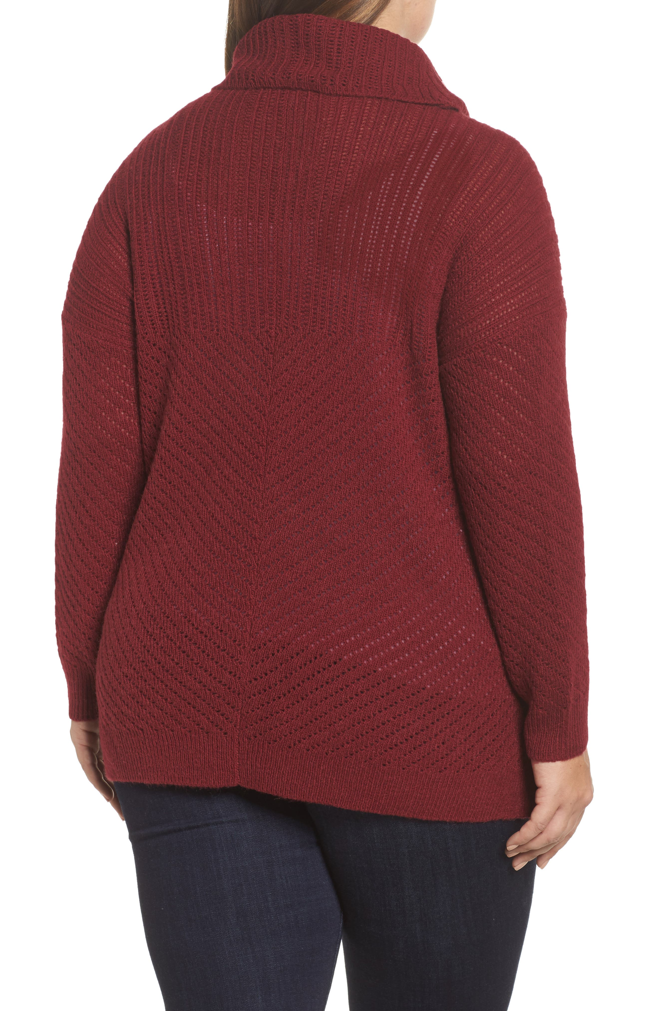 Button Side Sweater,                             Alternate thumbnail 2, color,                             Rust