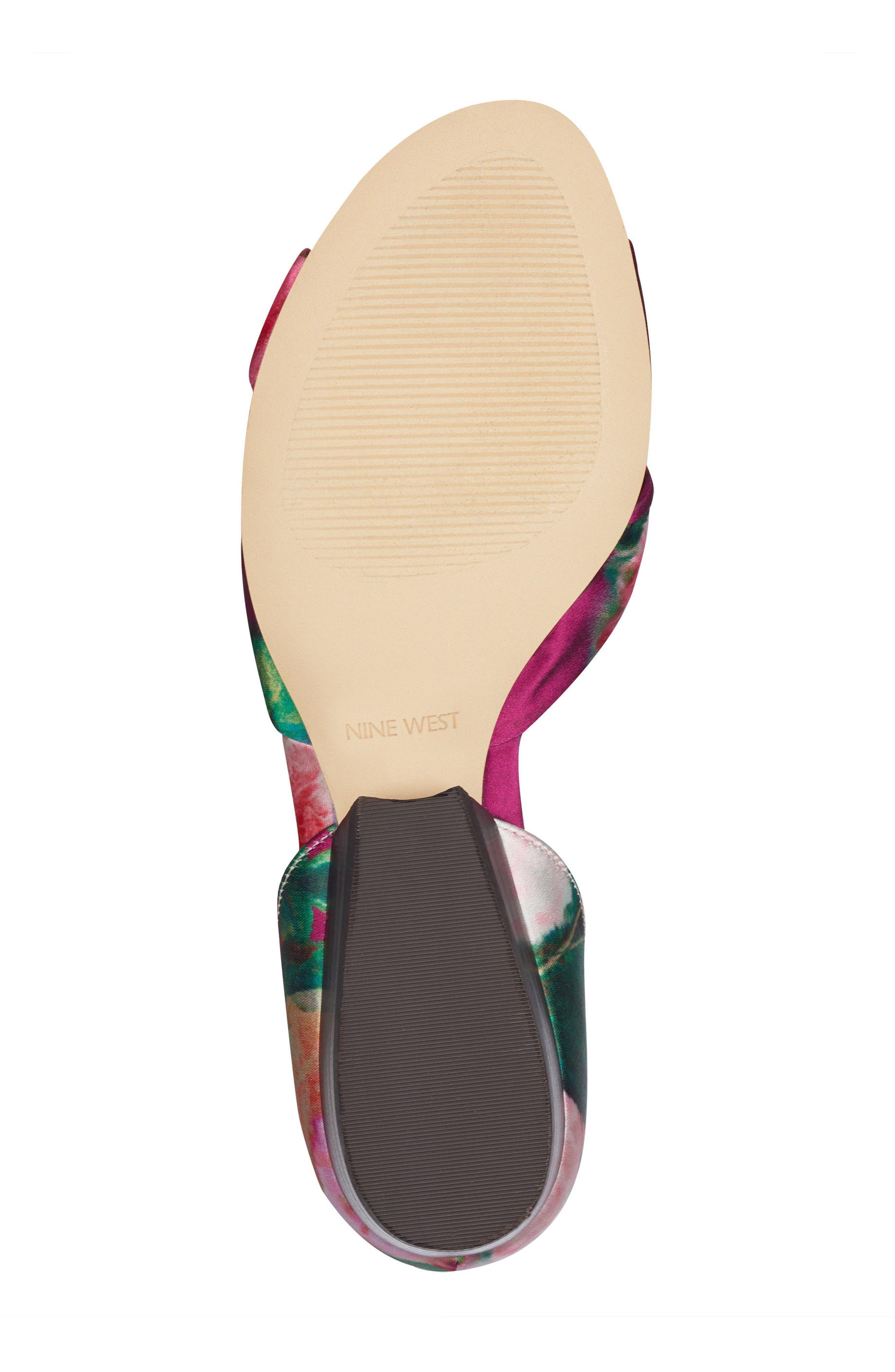 Lumsi Ankle Strap Sandal,                             Alternate thumbnail 6, color,                             Pink Multi Satin