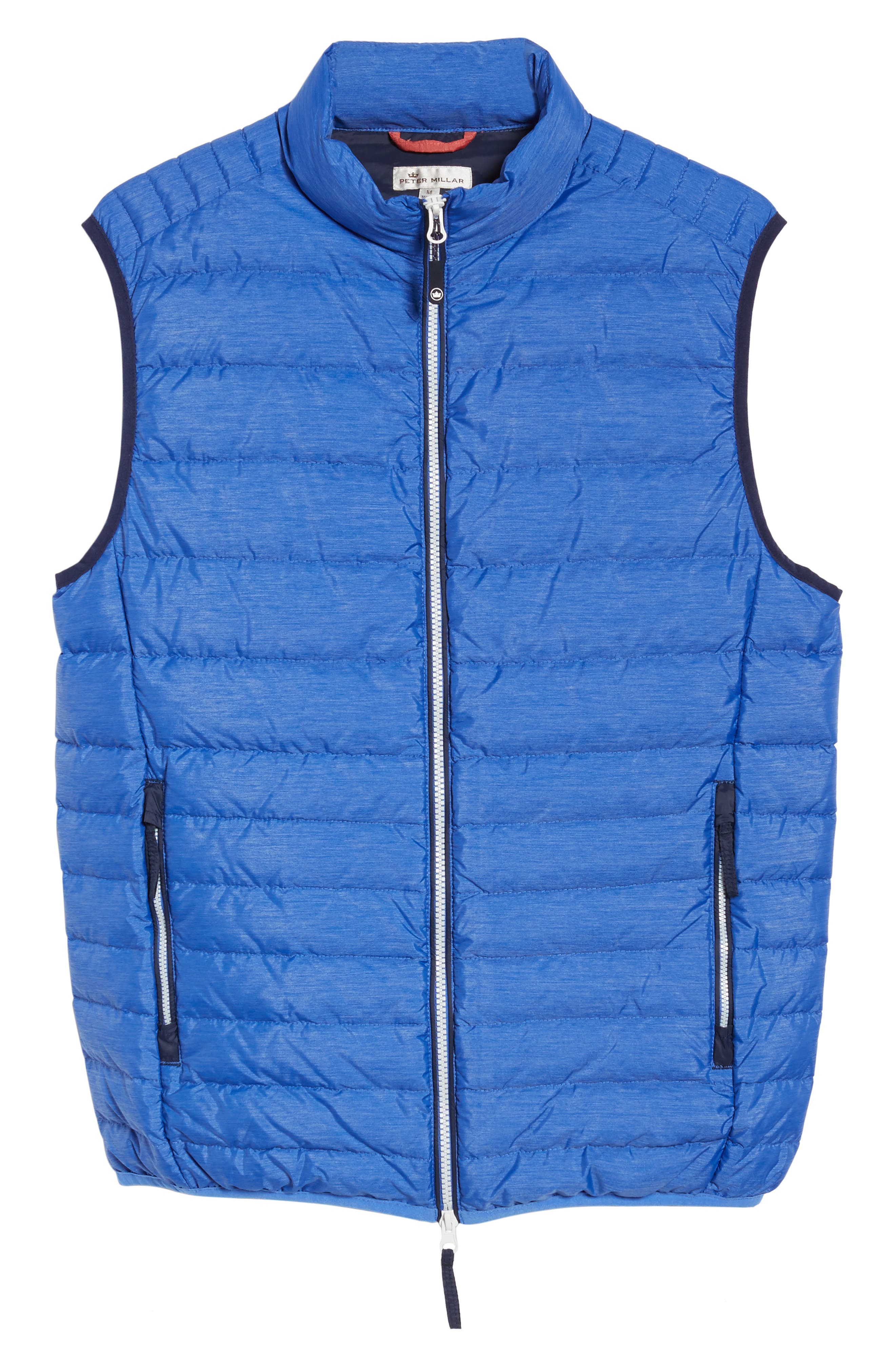 Crown Elite Light Down Vest,                             Alternate thumbnail 6, color,                             Barrier Blue