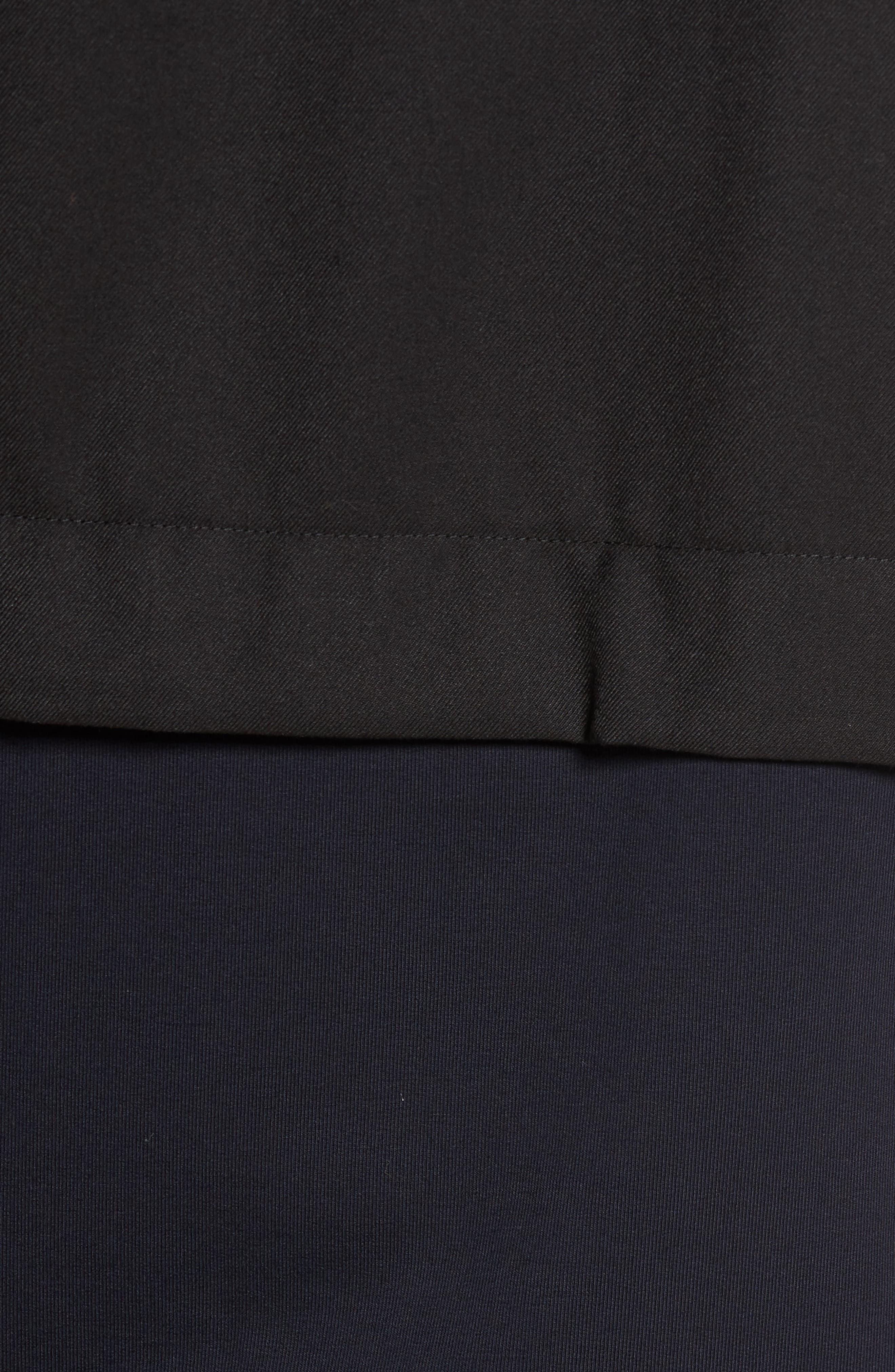 Fleece Zip Up Jacket,                             Alternate thumbnail 5, color,                             Black