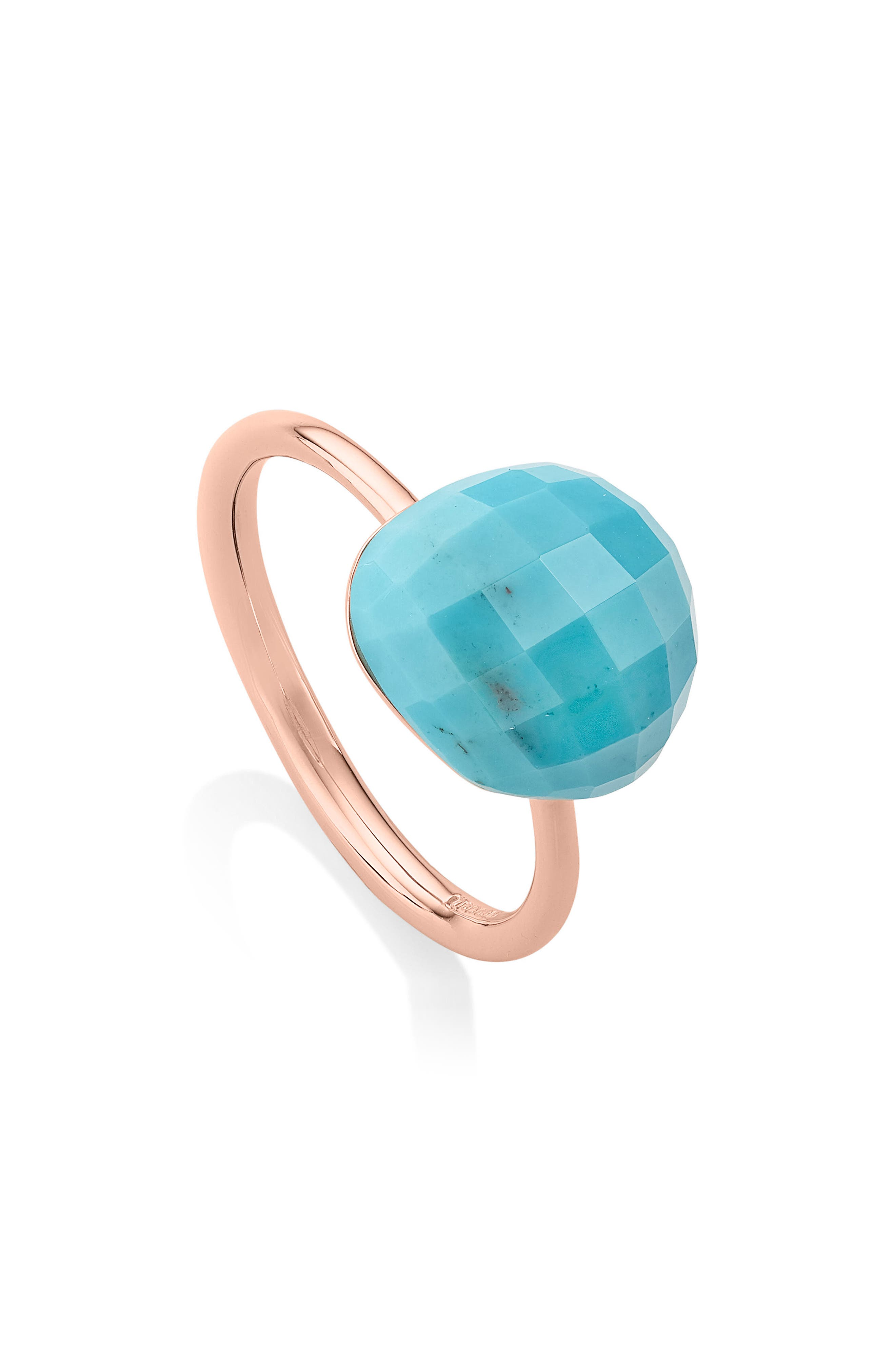 Nura Mini Nugget Stacking Ring,                         Main,                         color, Turquoise
