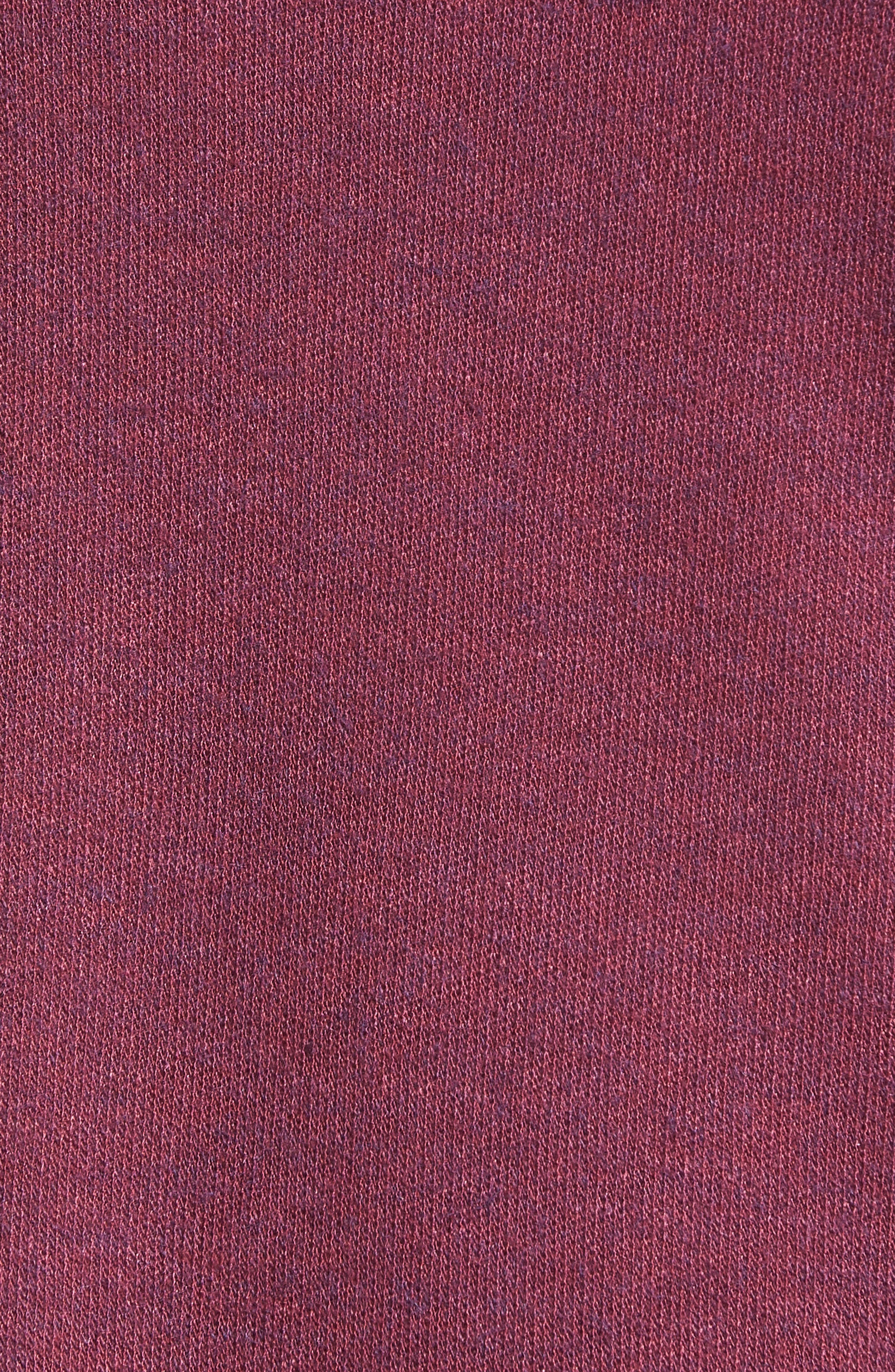 Lace-Up Sweater,                             Alternate thumbnail 5, color,                             Burgundy