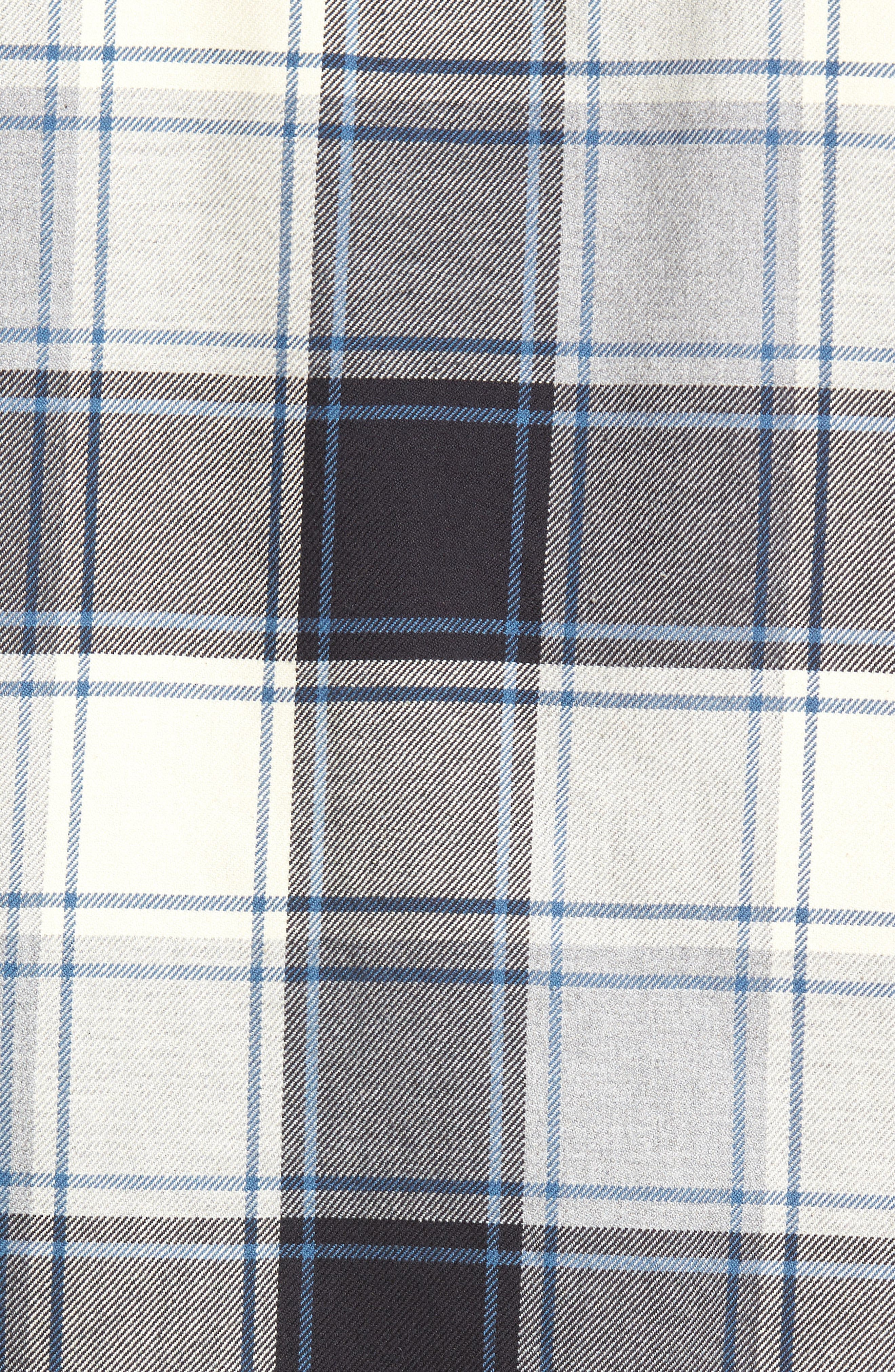 Slim Fit Plaid Flannel Shirt,                             Alternate thumbnail 5, color,                             House Flannel/ Real Teal