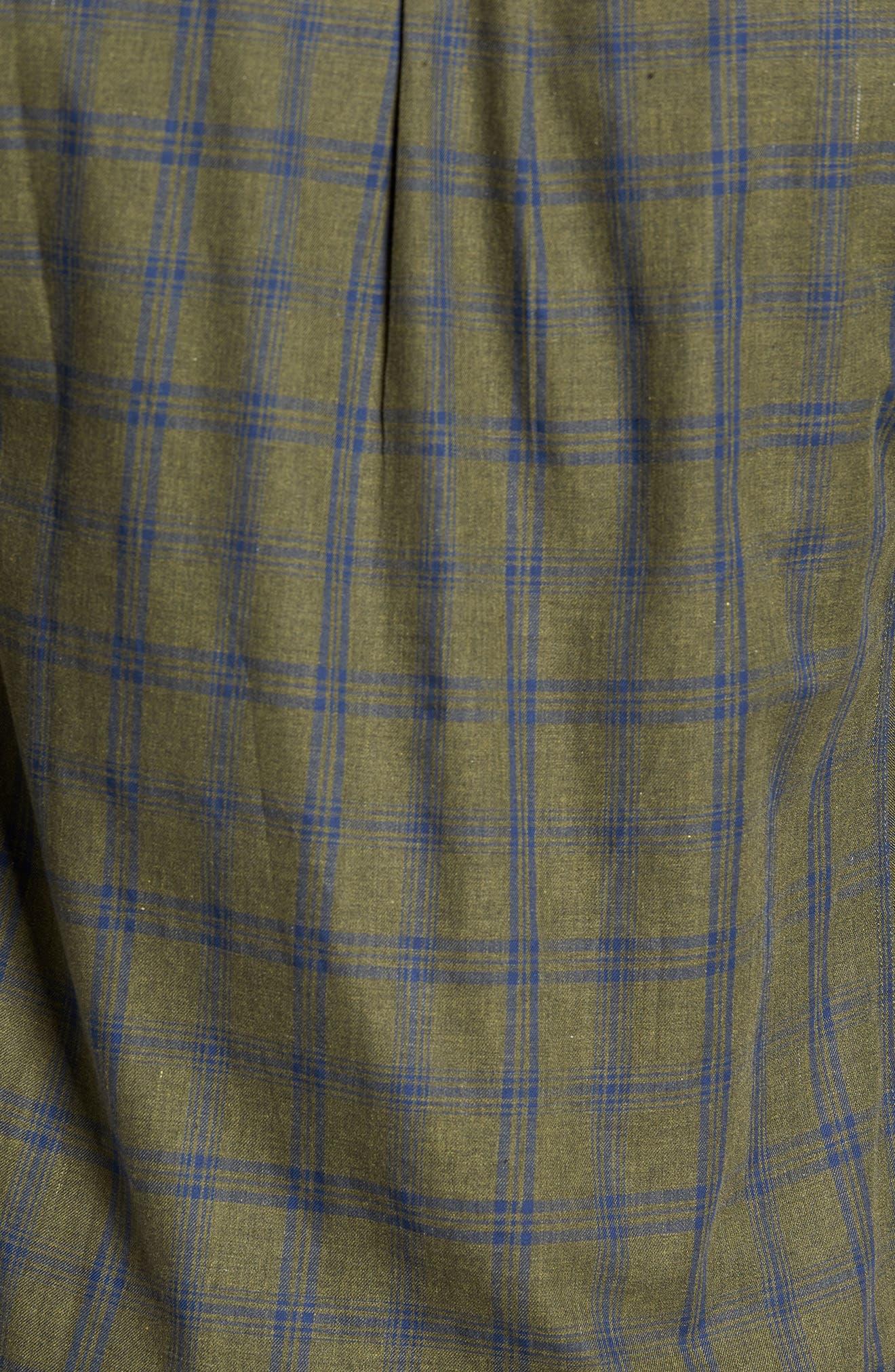 Alternate Image 5  - Descendant of Thieves Vintage Army Plaid Sport Shirt