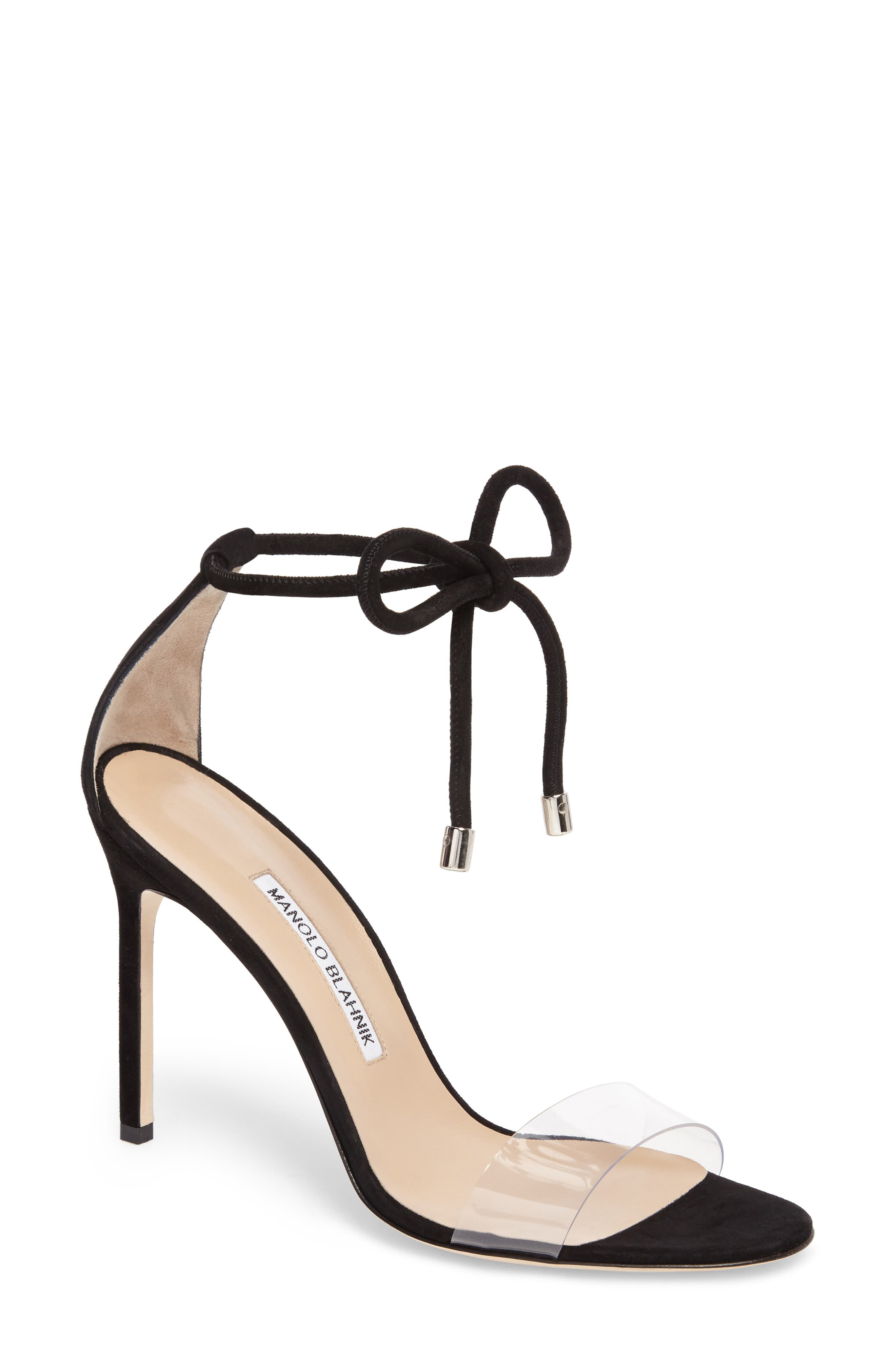 Manolo Blahnik Estro Ankle Tie Sandal (Women)