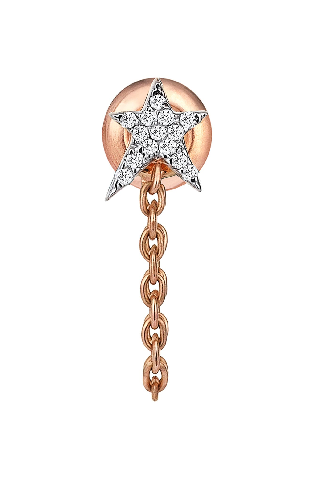 Diamond Earring,                         Main,                         color, Rose Gold