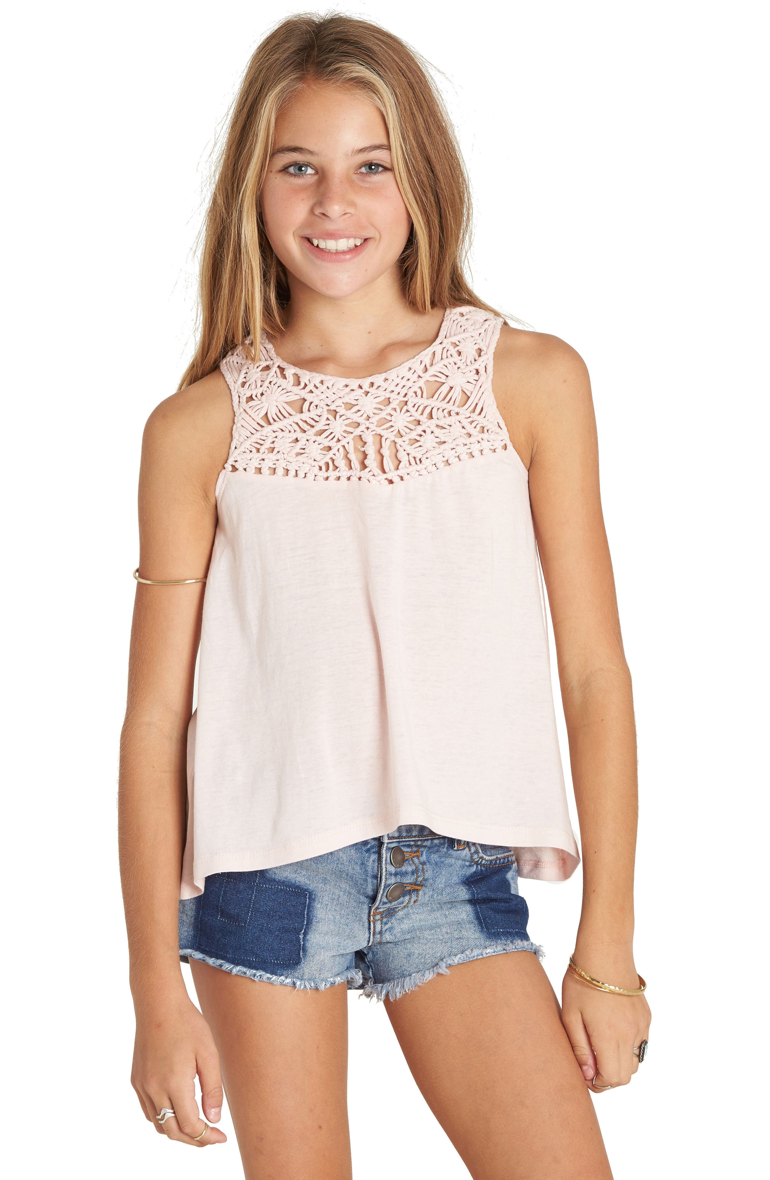 Second Look Tank,                             Alternate thumbnail 3, color,                             Shell Pink