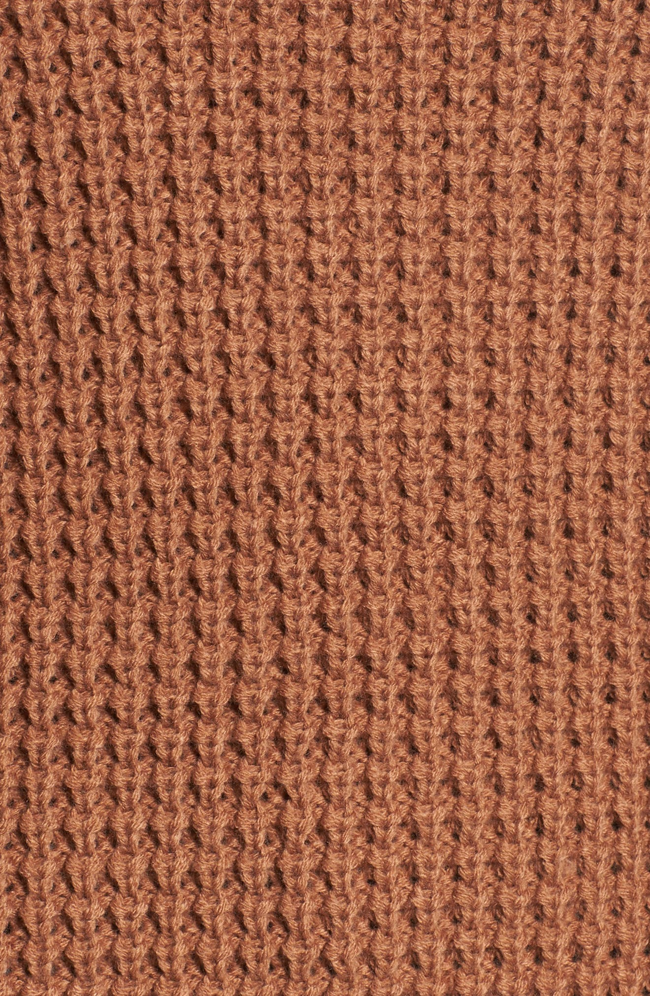 Cowl Neck Thermal Stitch Sweater,                             Alternate thumbnail 5, color,                             Oatmeal