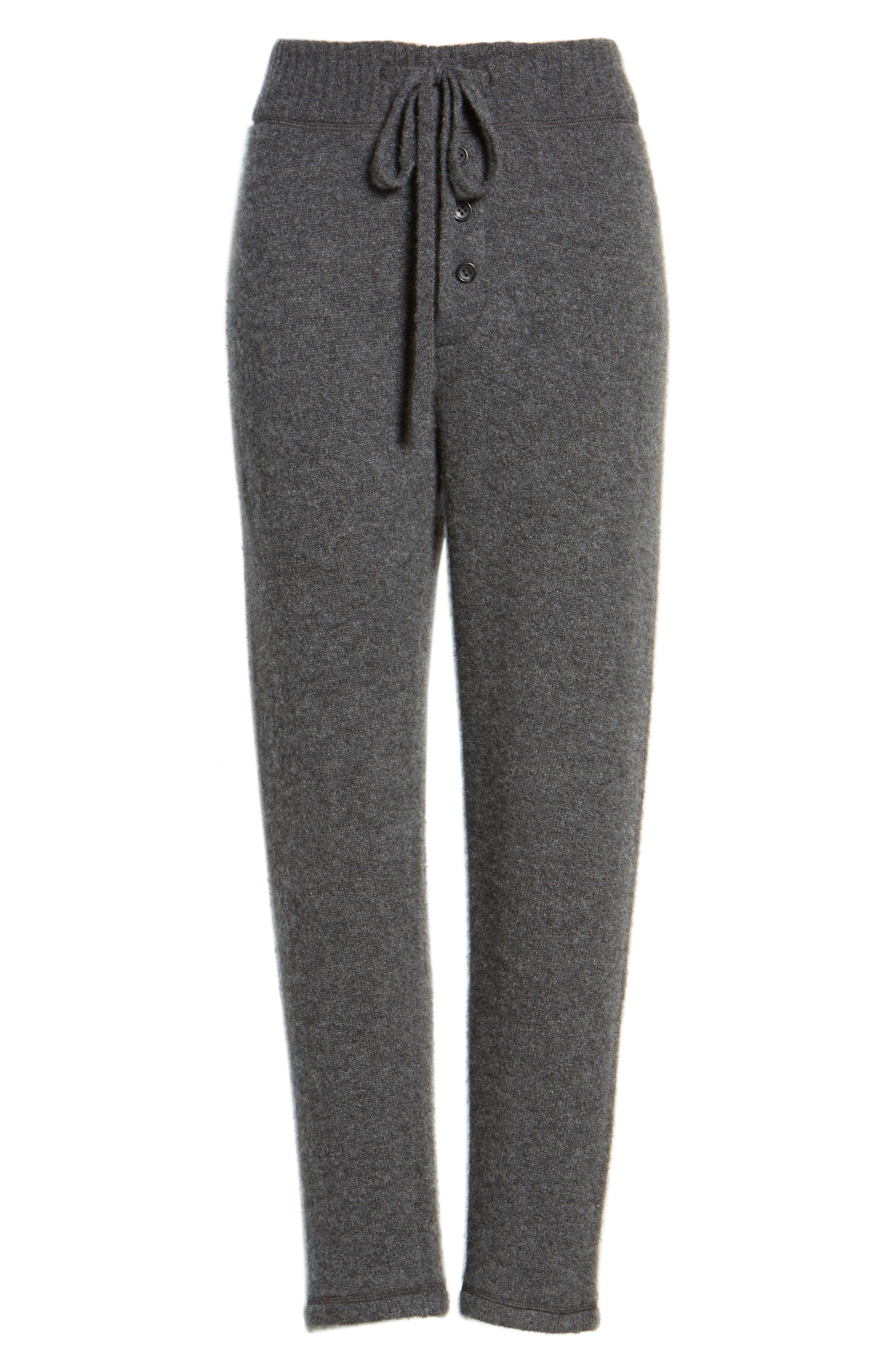 Brushed Cashmere Sweatpants,                             Alternate thumbnail 6, color,                             Charcoal