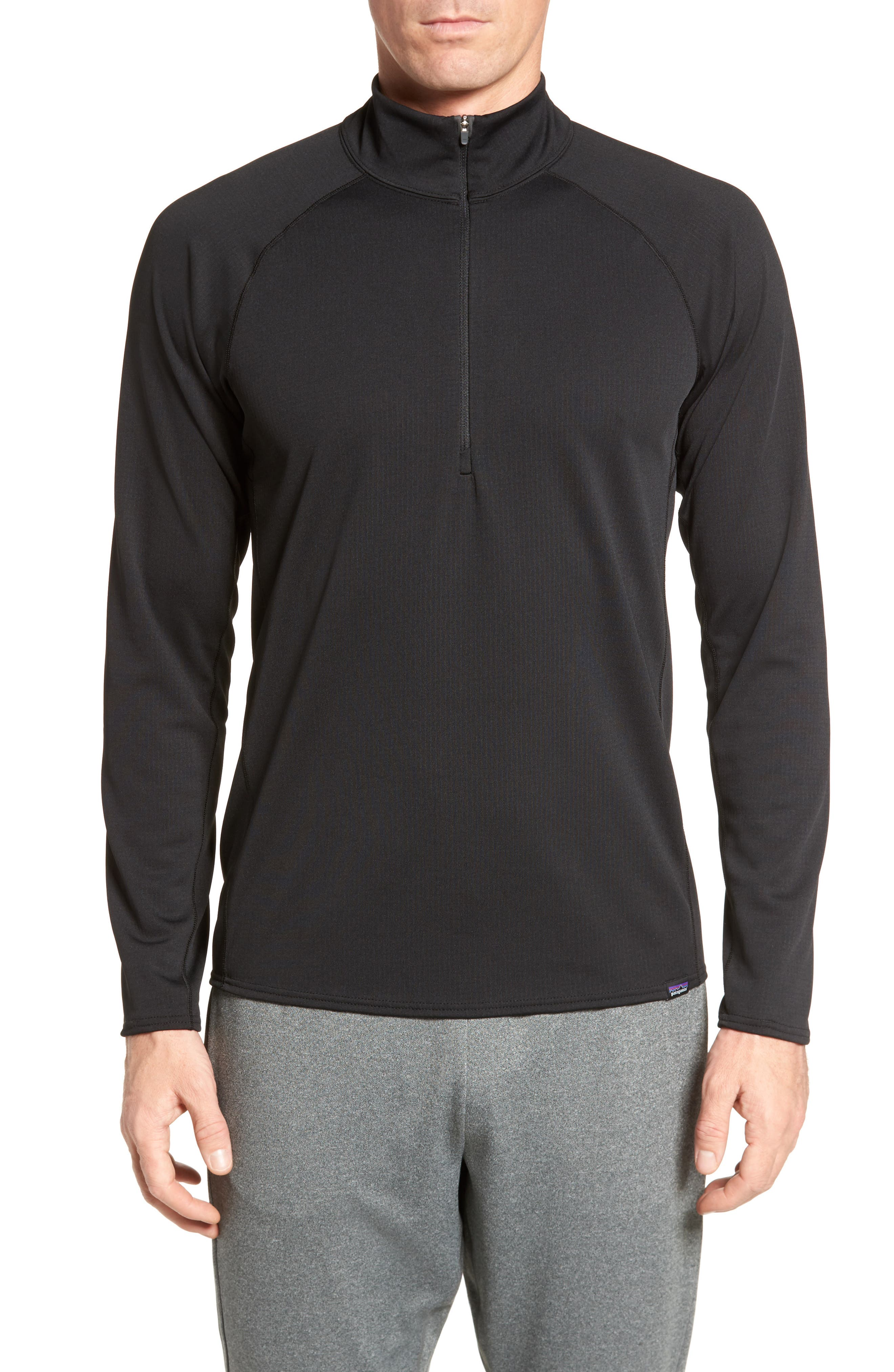 Capilene Midweight Pullover,                         Main,                         color, Black