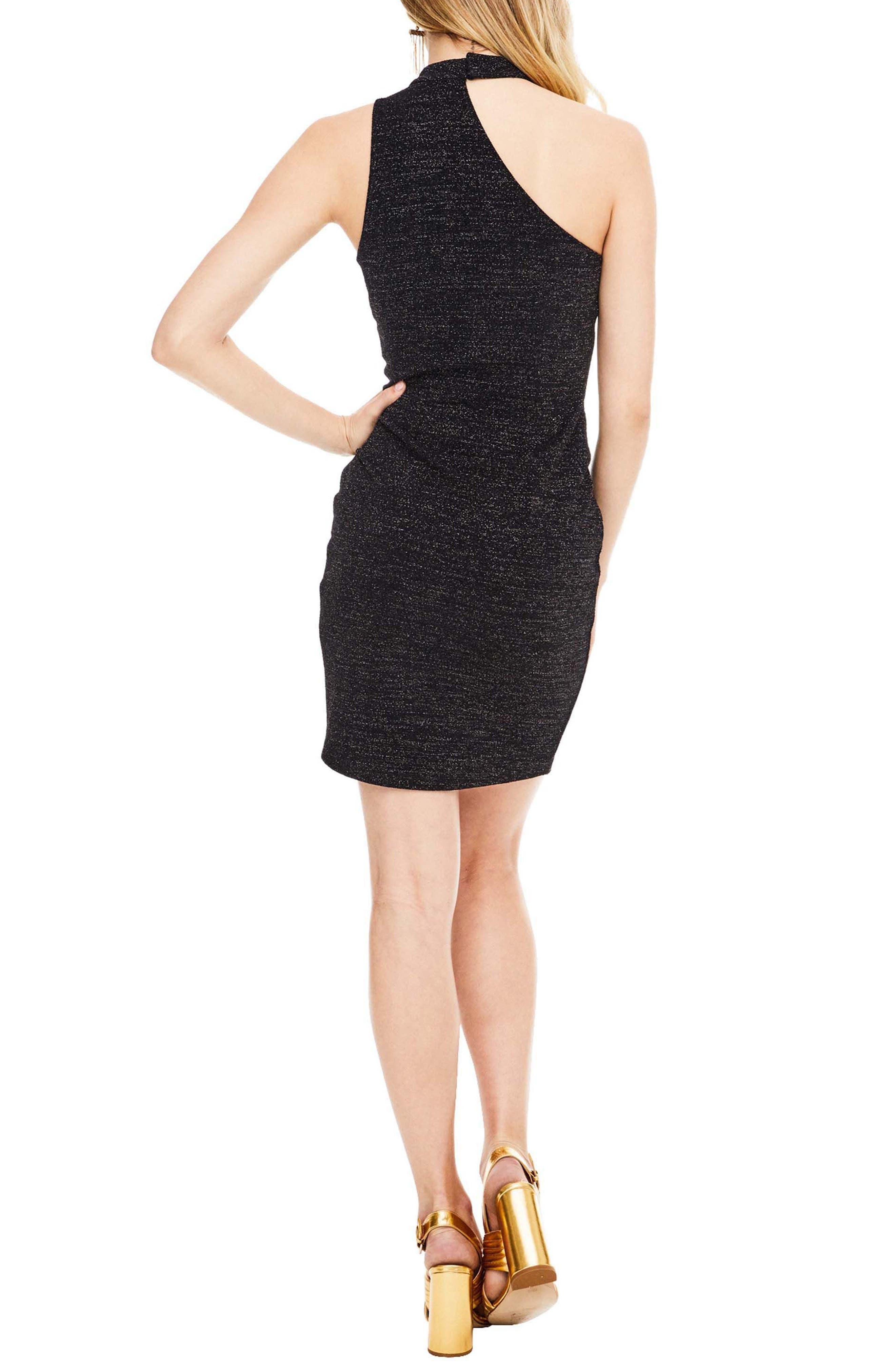 Danika Body-Con Dress,                             Alternate thumbnail 2, color,                             Black Sparkle