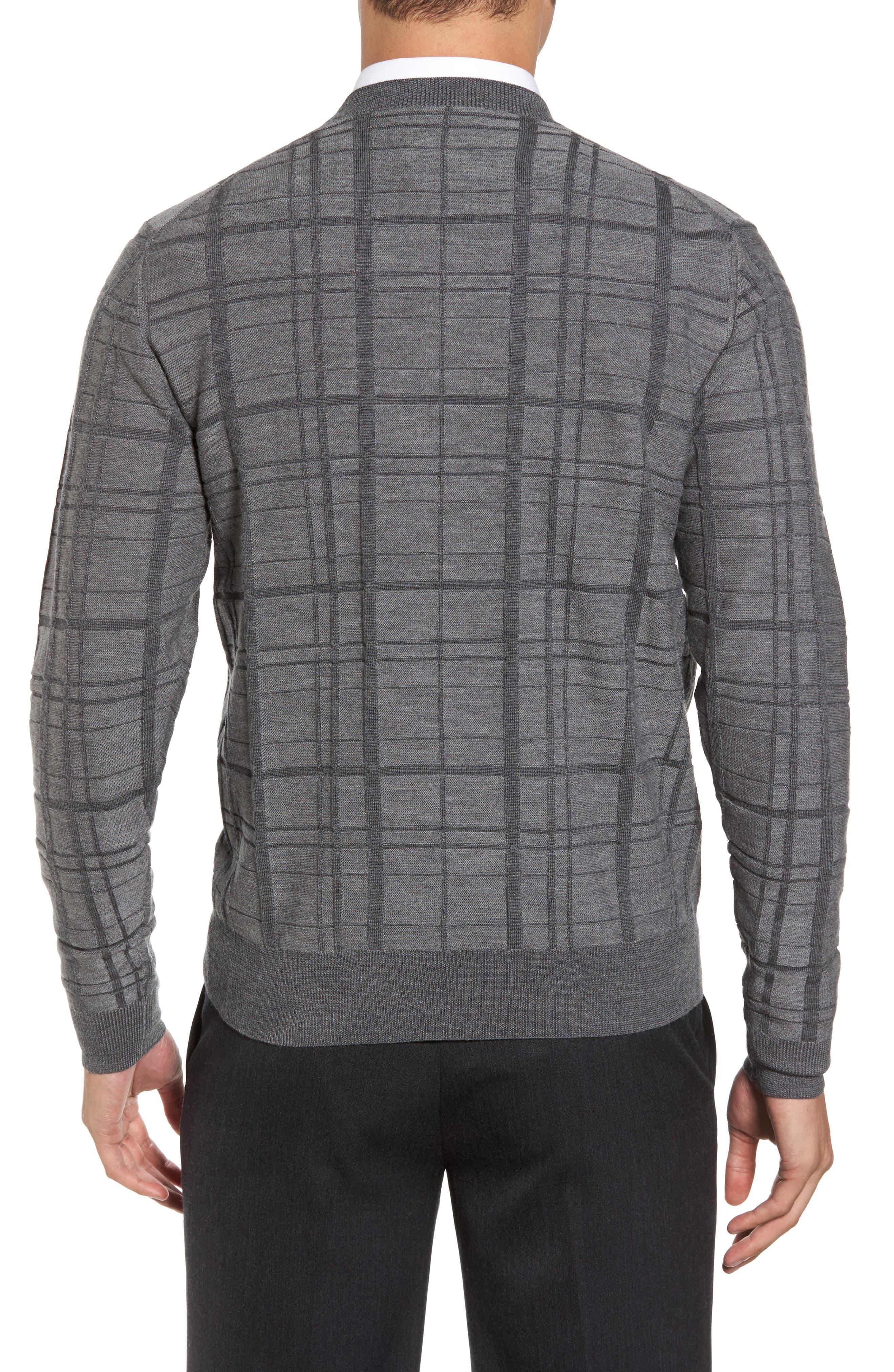 Alternate Image 2  - Bobby Jones Tonal Grid Wool Sweater