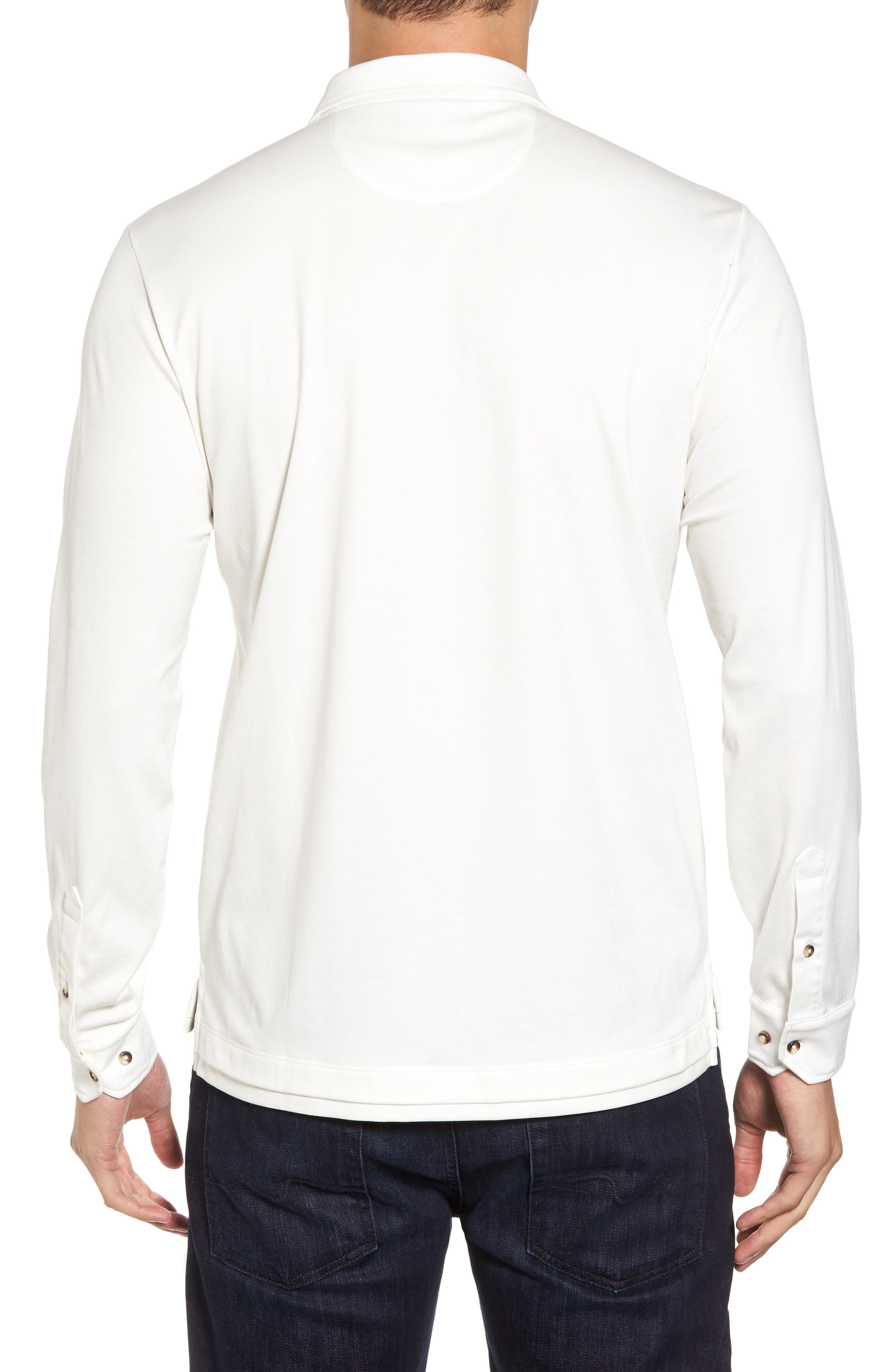 Interlock Polo,                             Alternate thumbnail 2, color,                             White