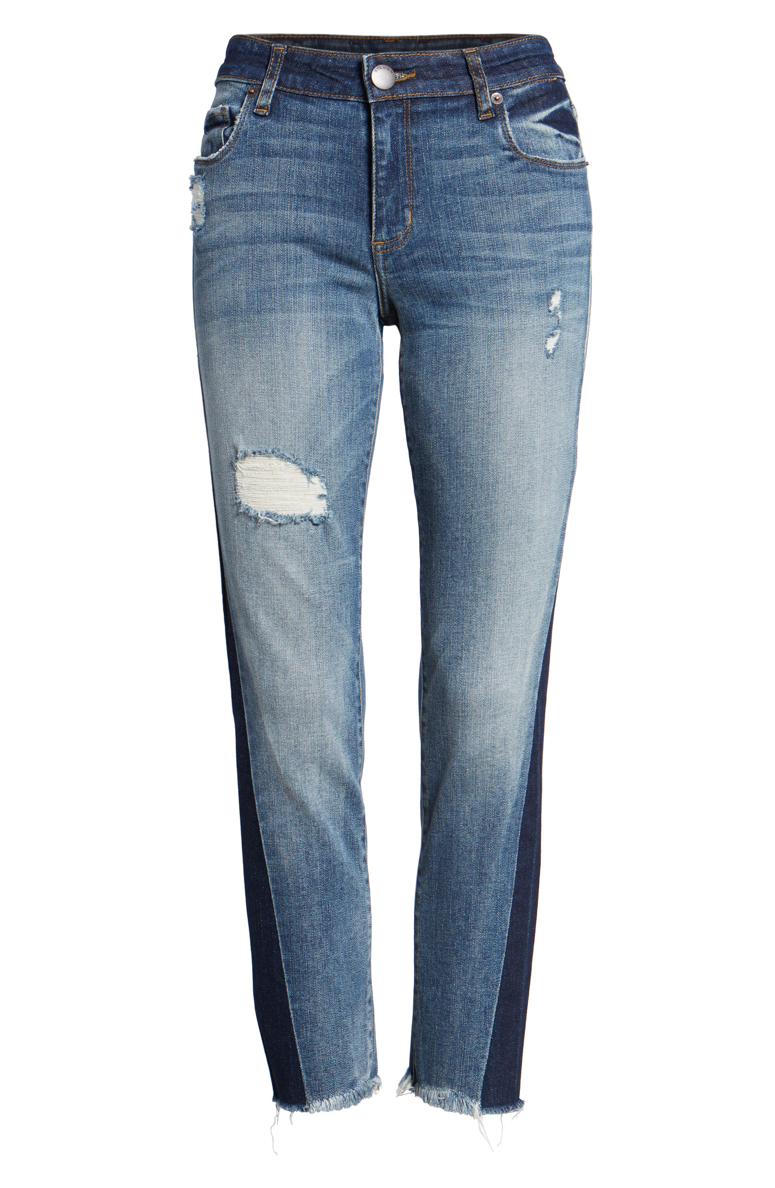 Alternate Image 6  - STS Blue Taylor Colorblock Straight Leg Jeans (Woodruff)