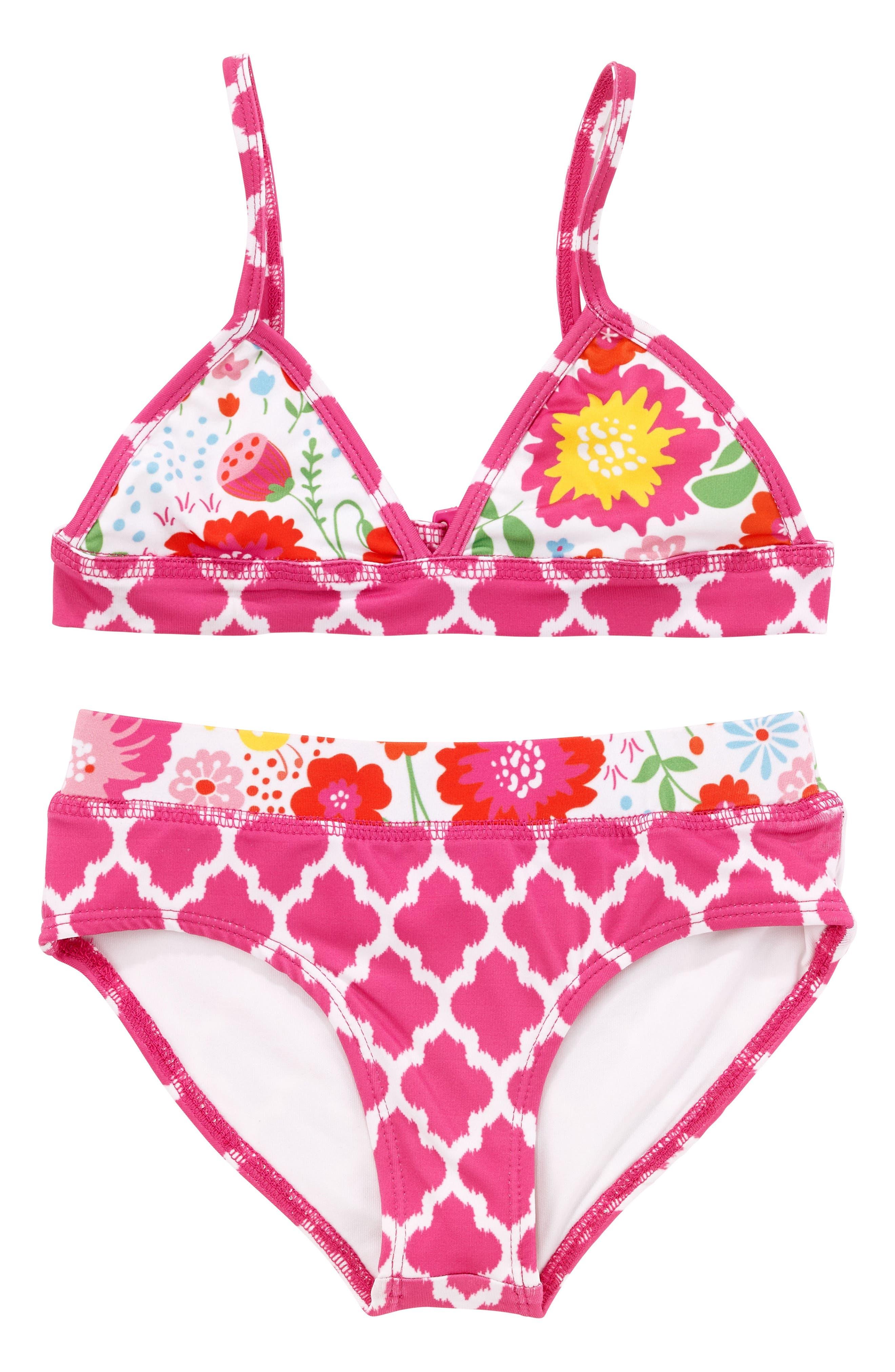 Alternate Image 1 Selected - Masalababy English Garden Two-Piece Swimsuit (Toddler Girls)